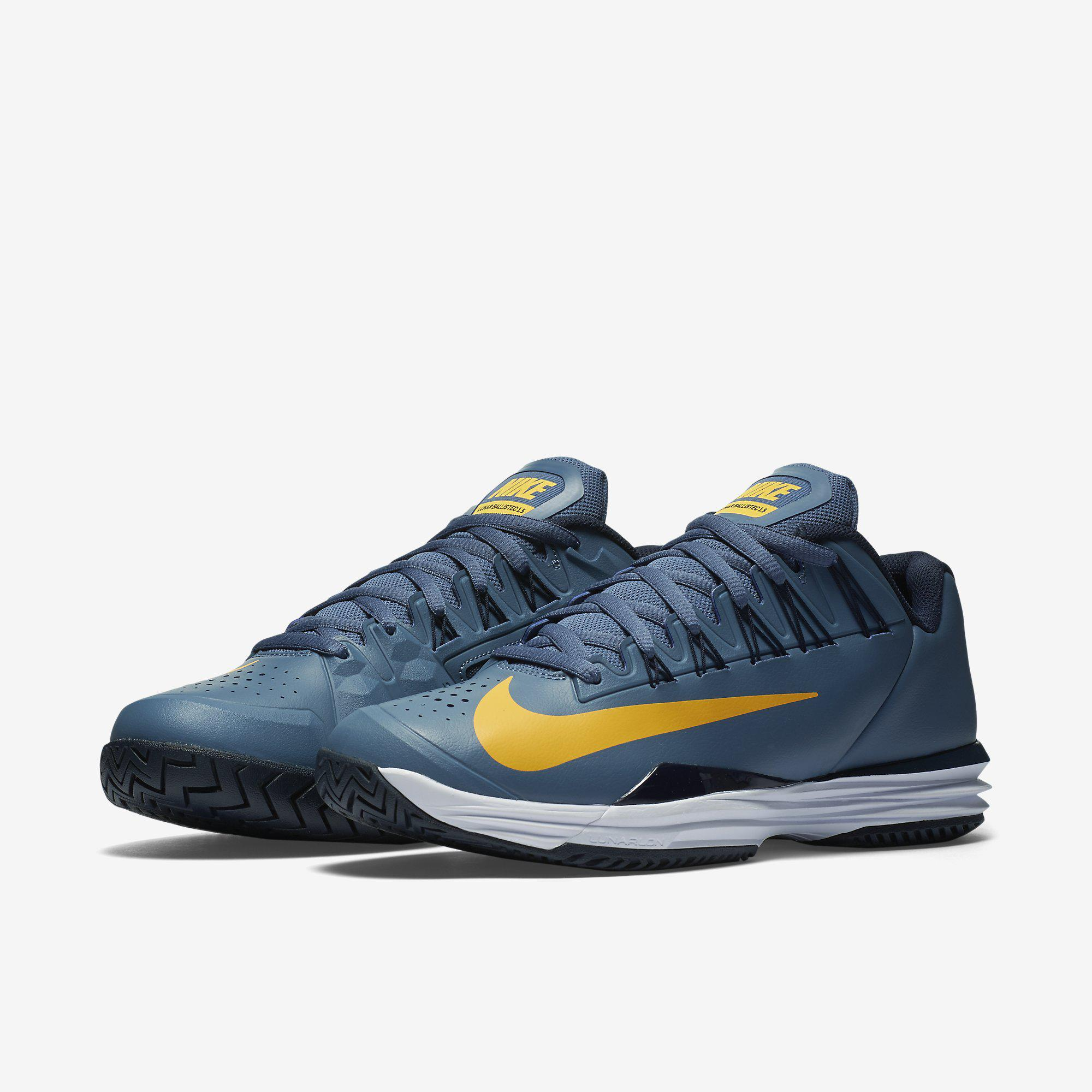 a9b633258b91 Nike Mens Lunar Ballistec 1.5 Tennis Shoes - Blue - Tennisnuts.com