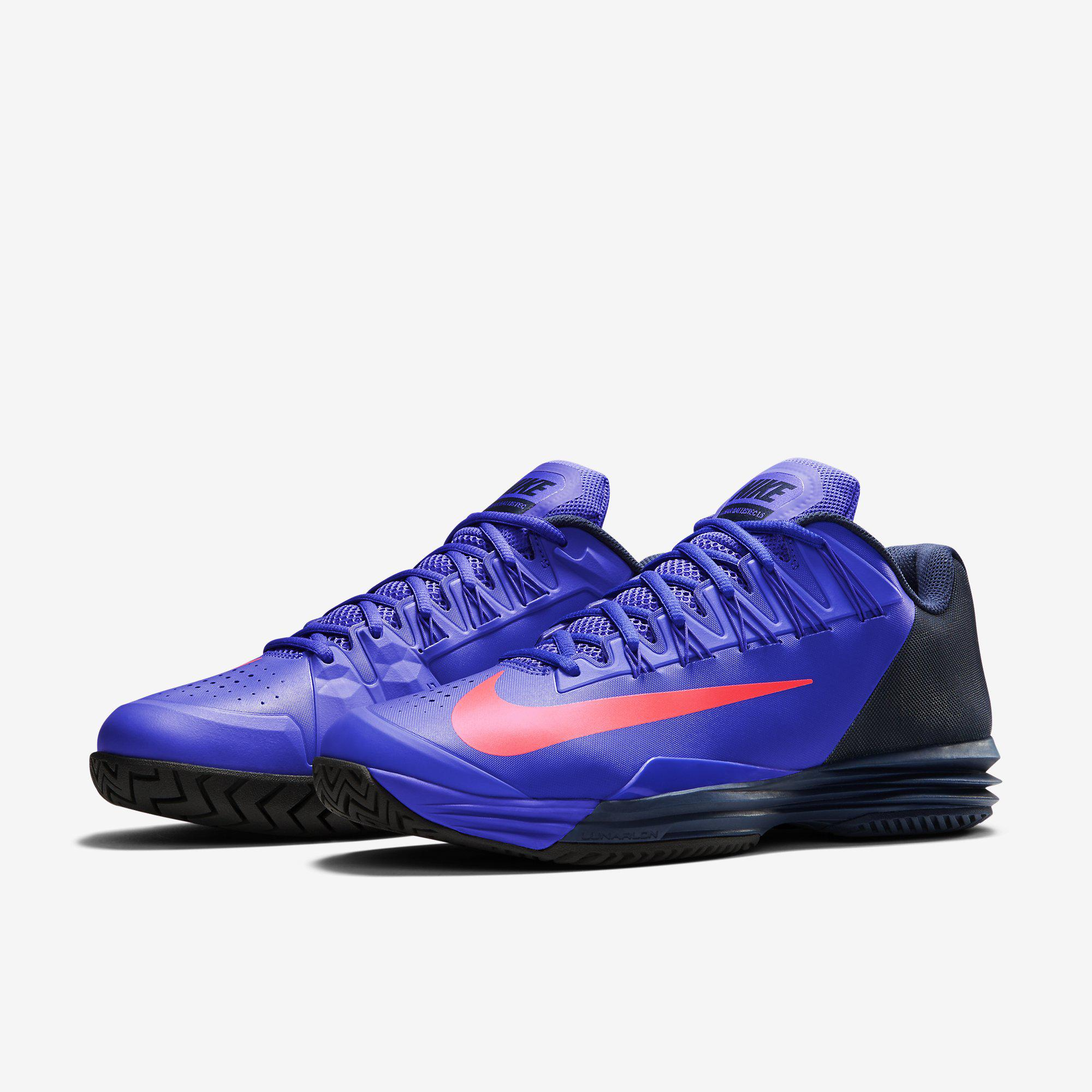 5c0fab70423c Nike Mens Lunar Ballistec 1.5 Tennis Shoes - Persian Violet Midnight Navy  ...