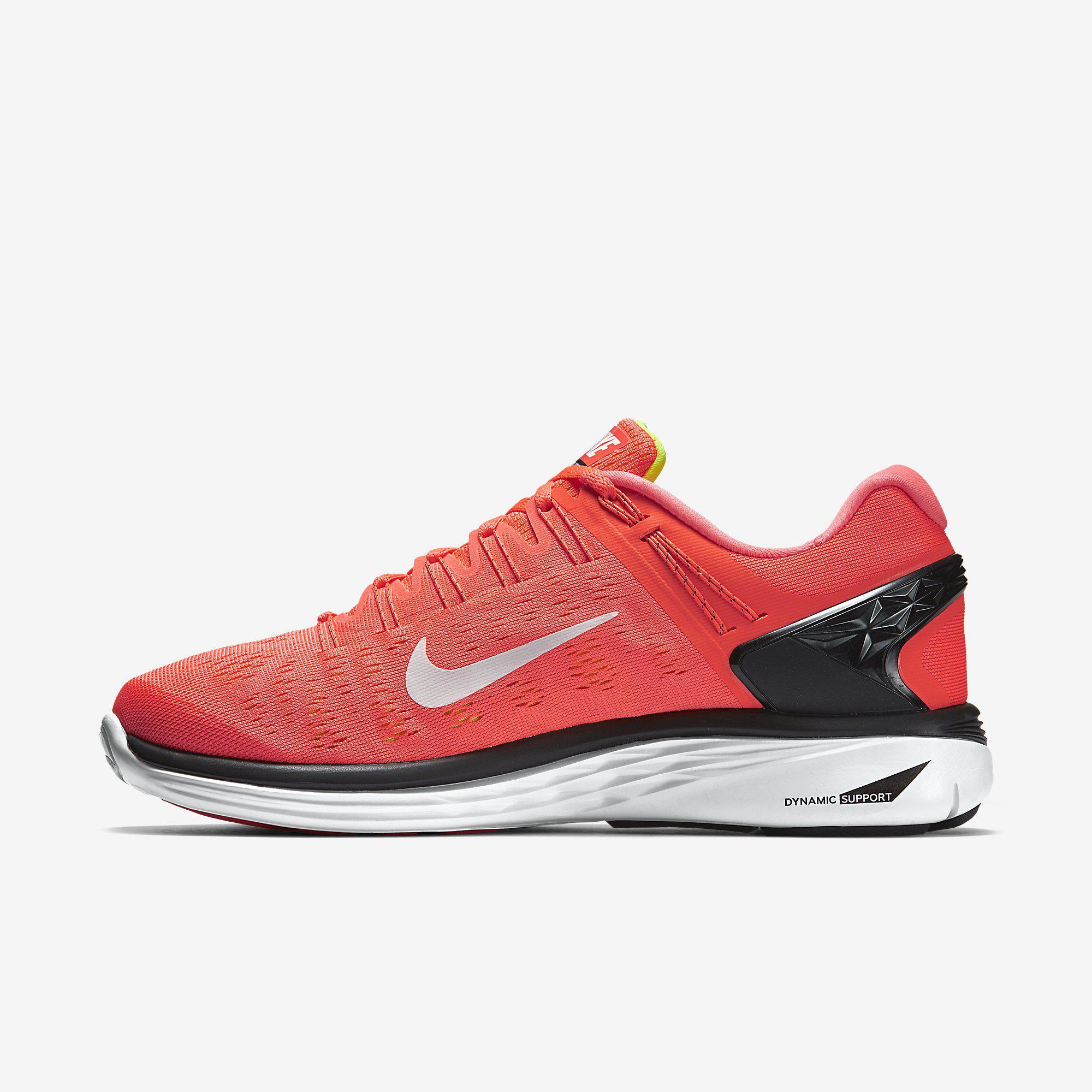 Nike Mens LunarEclipse 5 Running Shoes - Hot Lava/Volt