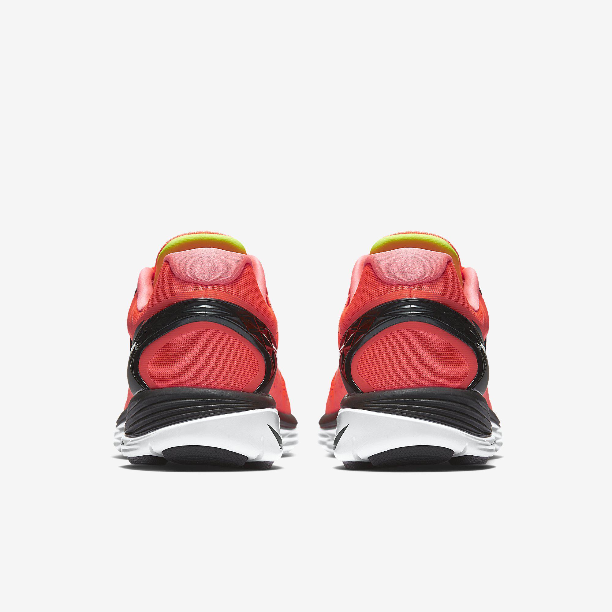 big sale f8298 59f1c Nike Mens LunarEclipse 5 Running Shoes - Hot Lava/Volt/White
