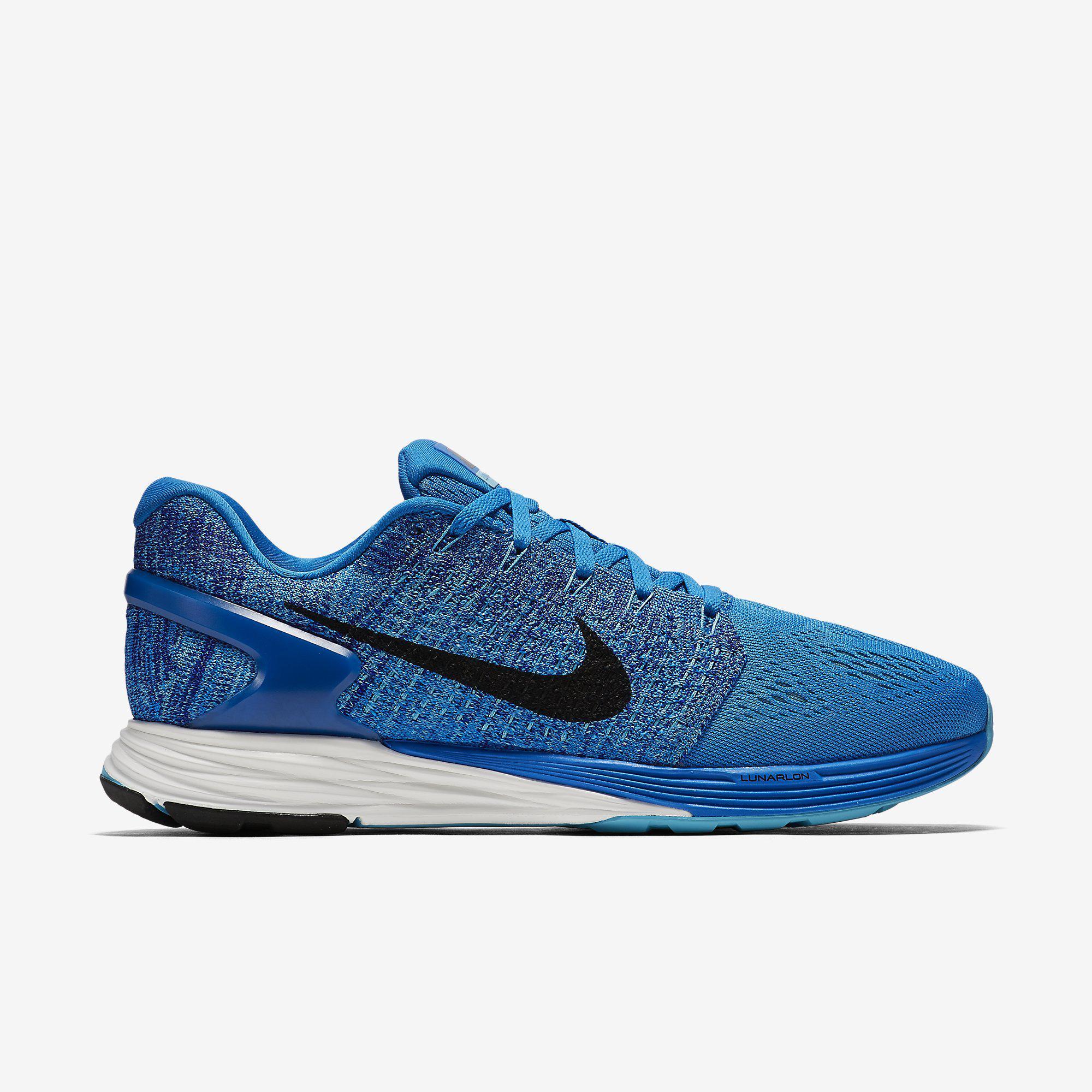 silencio Debilidad Elocuente  Nike Mens LunarGlide 7 Running Shoes - Blue - Tennisnuts.com