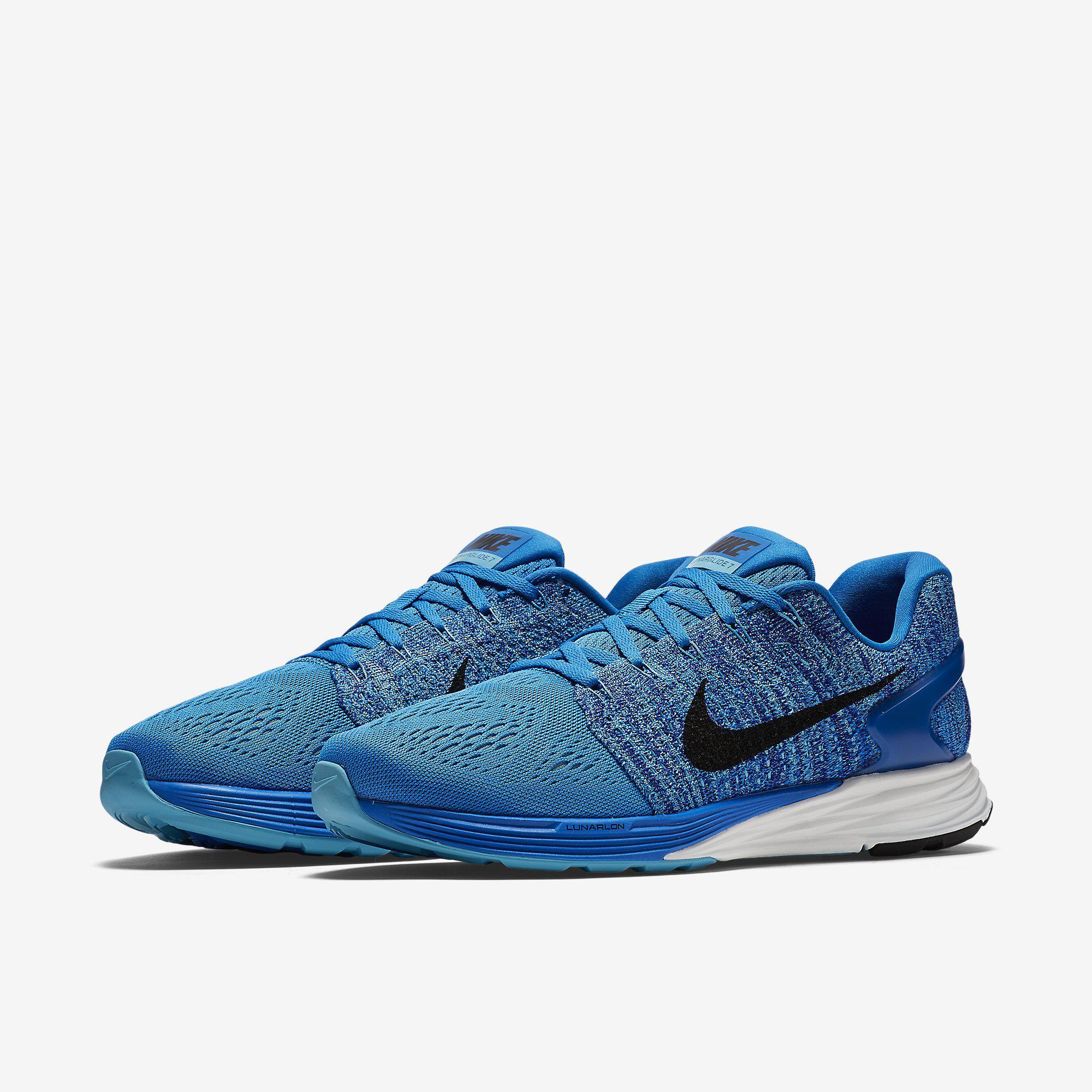 982d57d76ce3 Nike Mens LunarGlide 7 Running Shoes - Blue - Tennisnuts.com