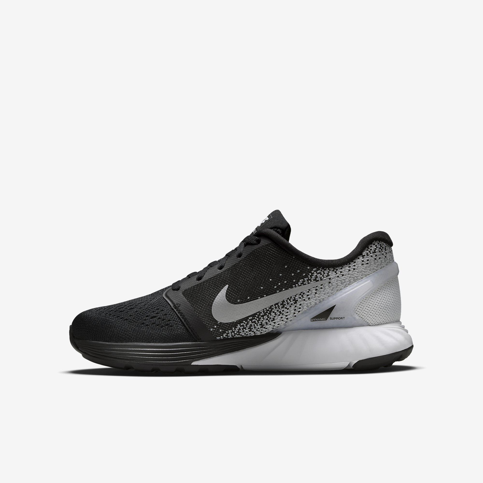 Nike Boys LunarGlide 7 Running Shoes - Black/Grey ...