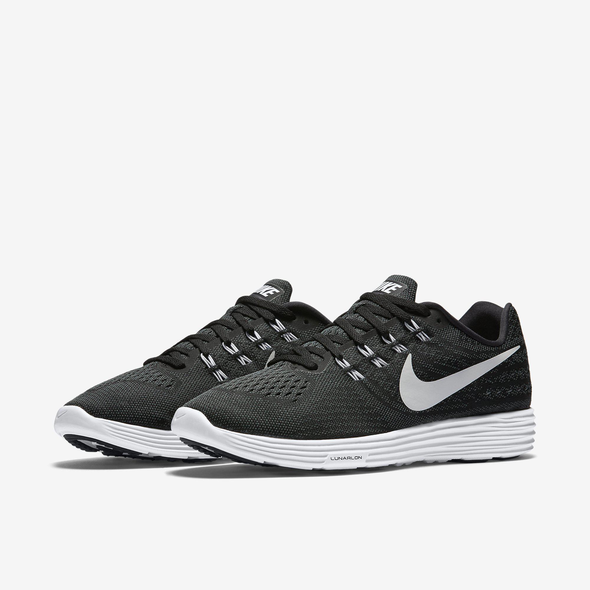 nike mens lunartempo 2 running shoes black white. Black Bedroom Furniture Sets. Home Design Ideas