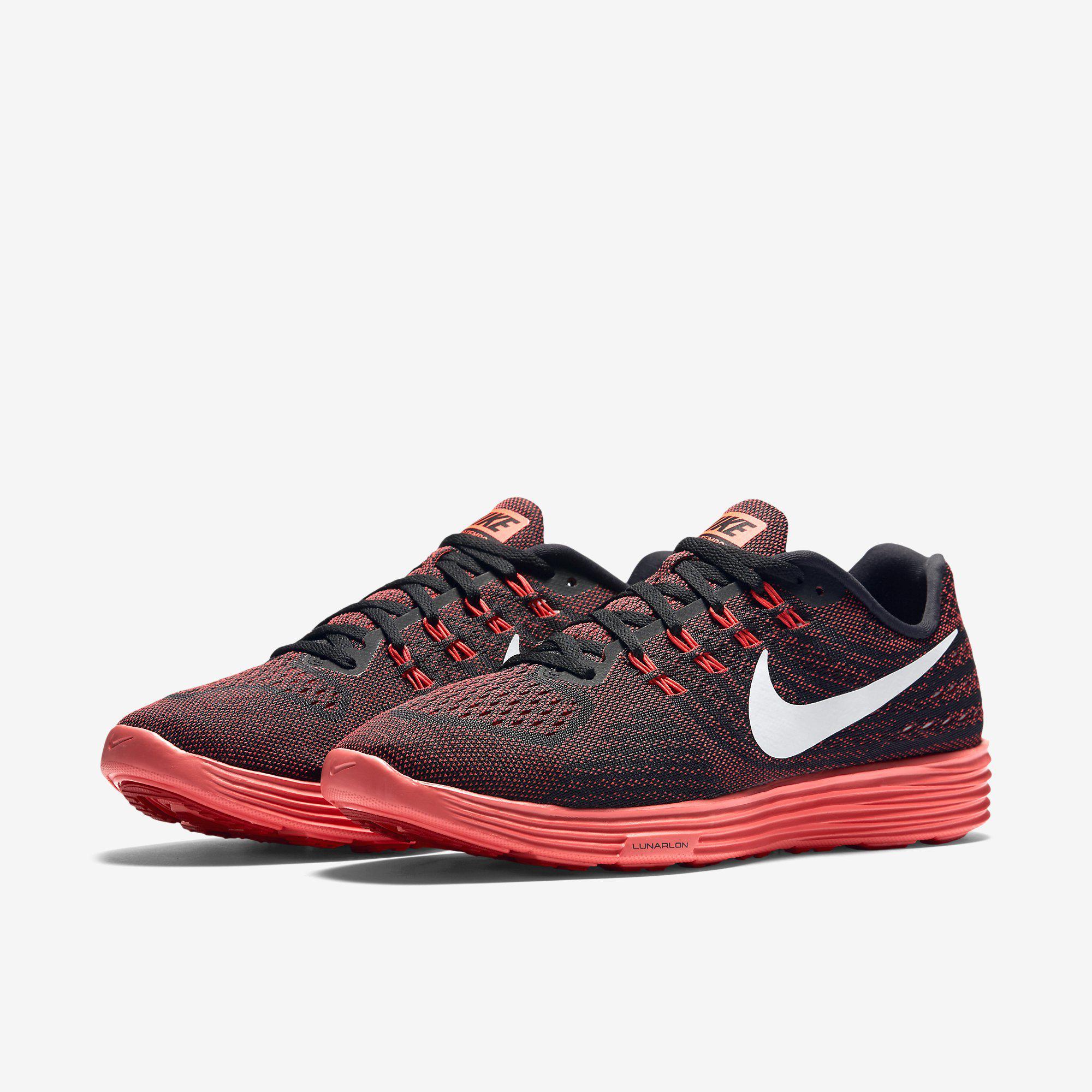 quality design eade4 893d3 Nike Mens LunarTempo 2 Running Shoes - Red Black