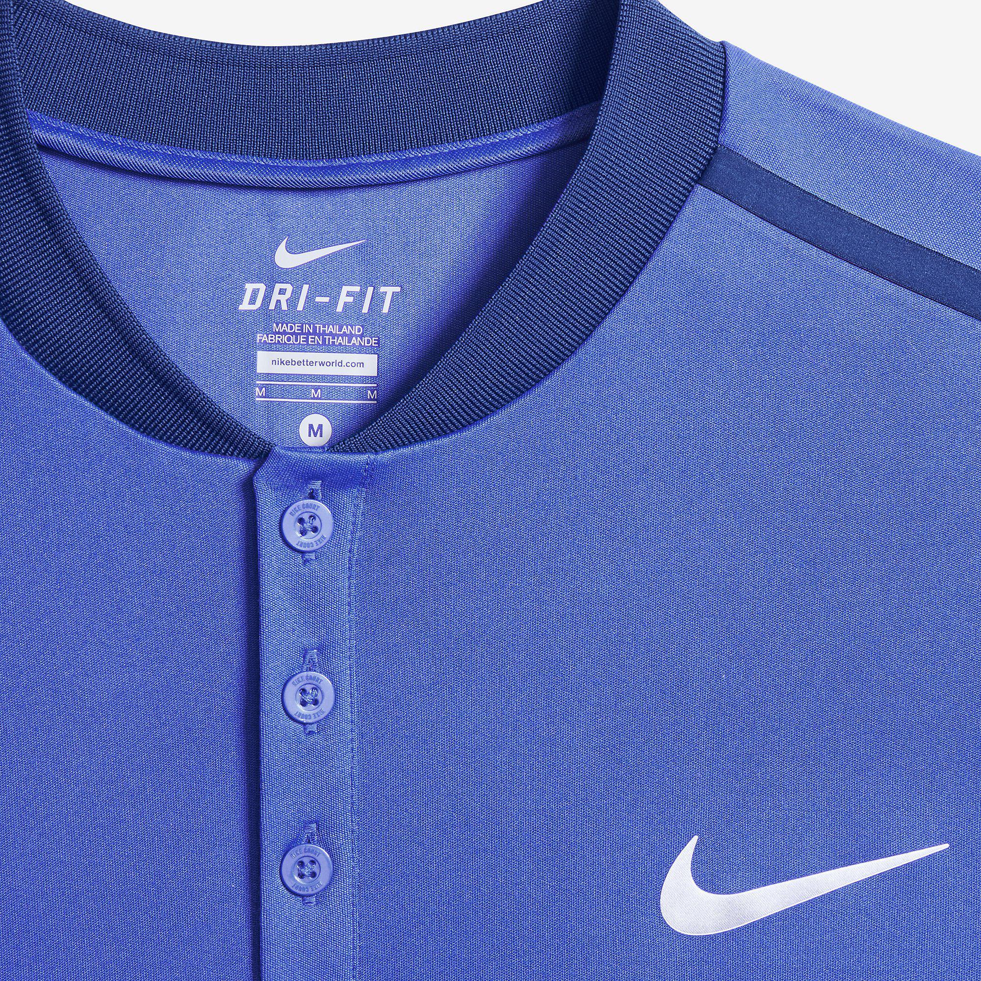 8cbf2a443 Nike Mens Advantage Premier Polo - Blue - Tennisnuts.com