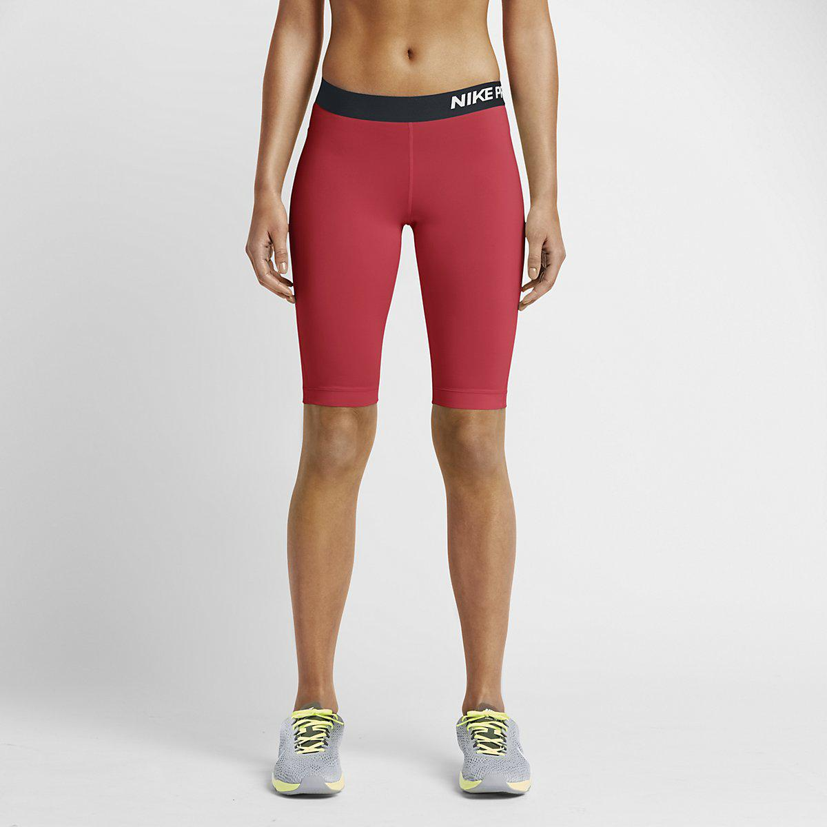 """Nike Womens Pro 11"""" Core Compression Shorts - Daring Red"""