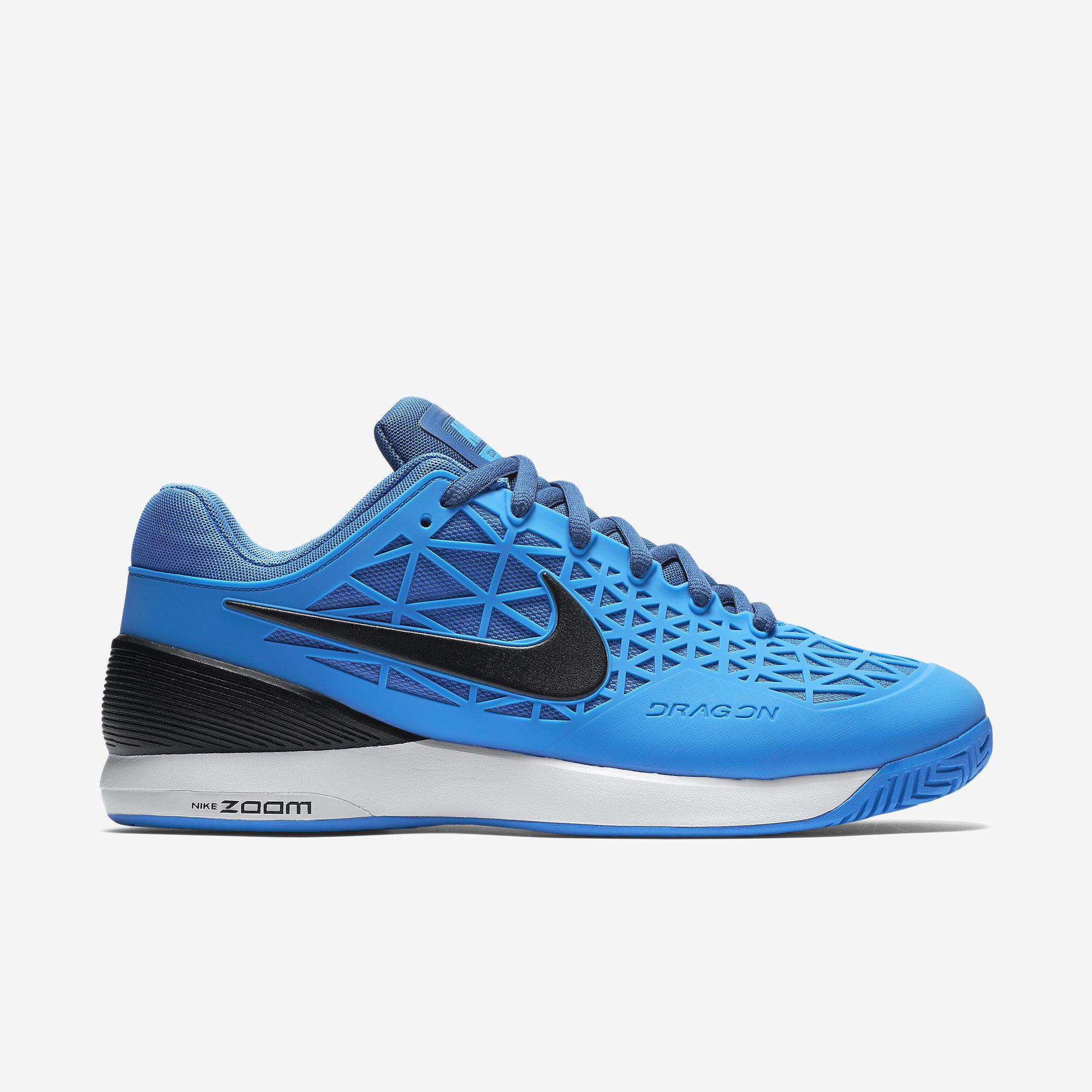 462d107bf412 Nike Mens Zoom Cage 2 Tennis Shoes - Blue Black - Tennisnuts.com