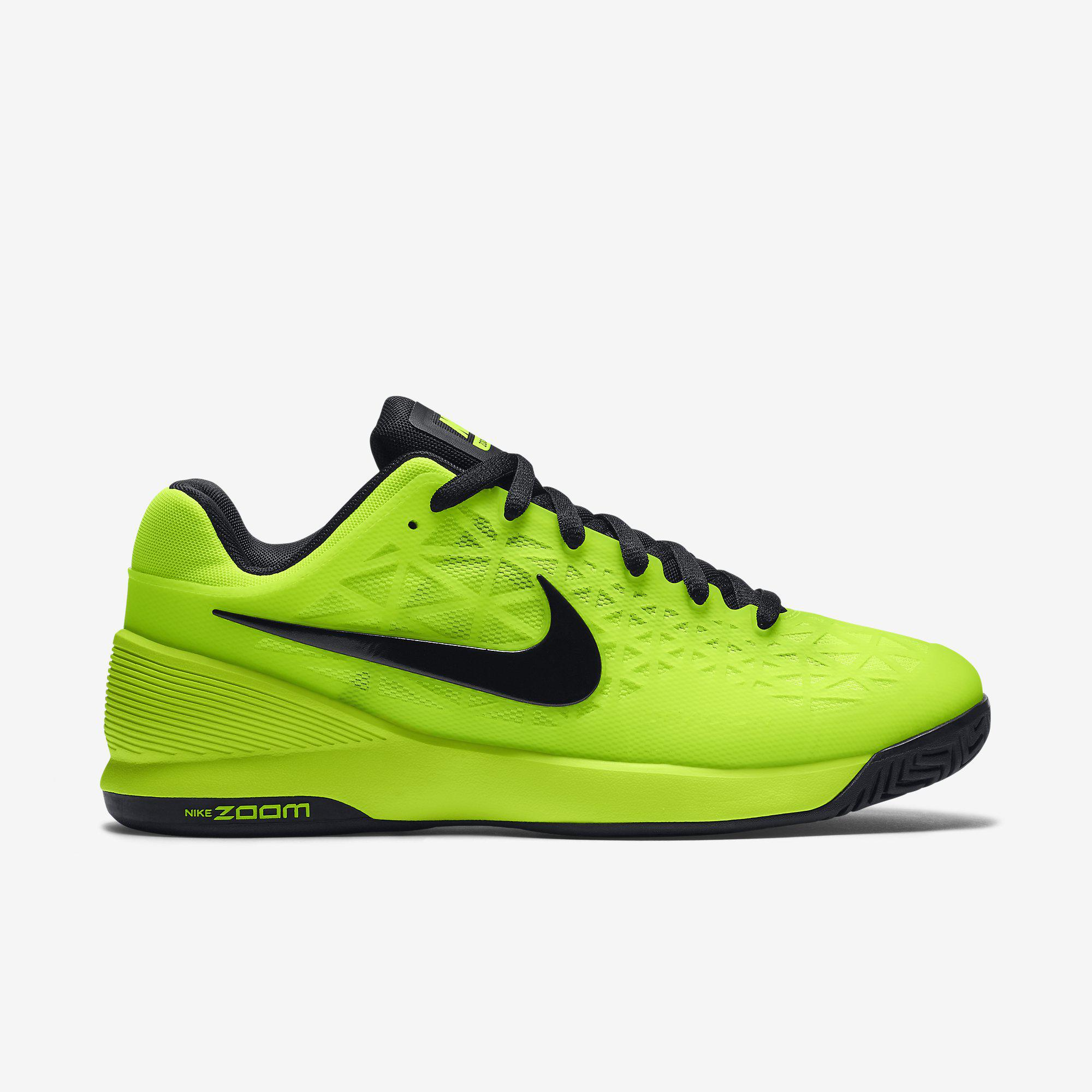 Nike Mens Zoom Cage 2 Tennis Shoes VoltBlack