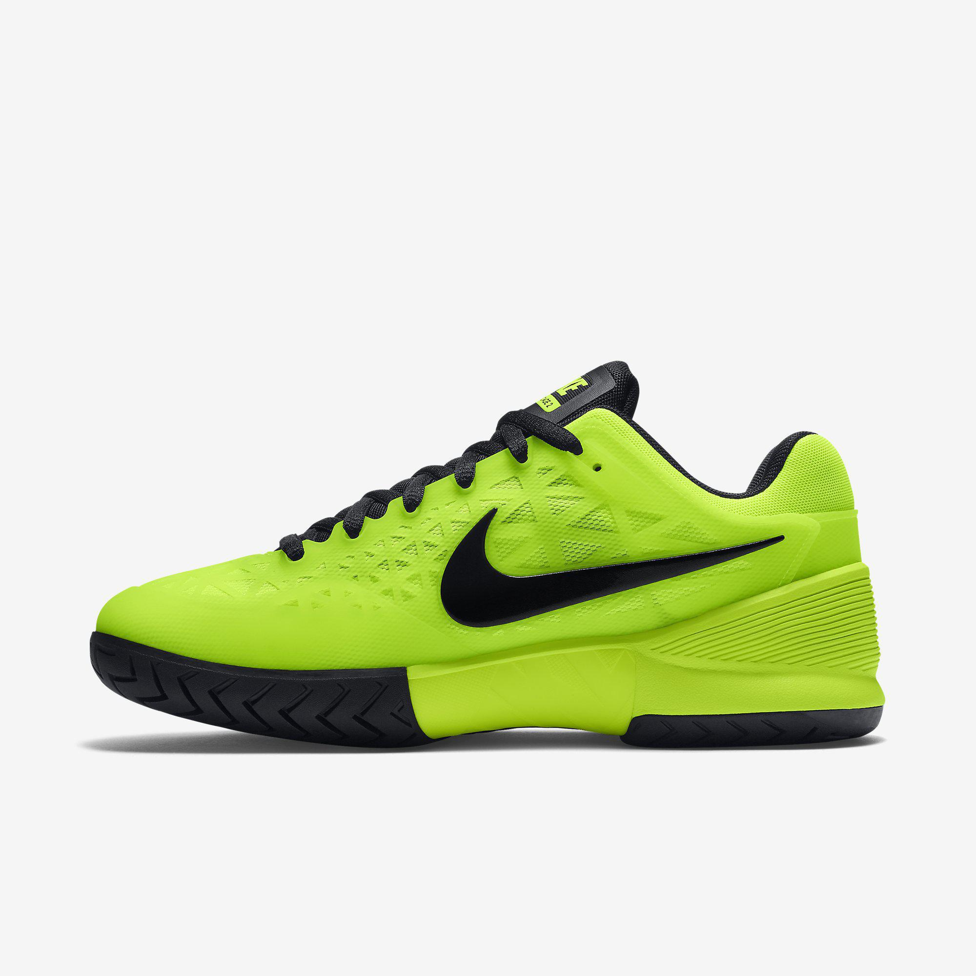 Nike Mens Zoom Cage 2 Tennis Shoes - Volt/Black