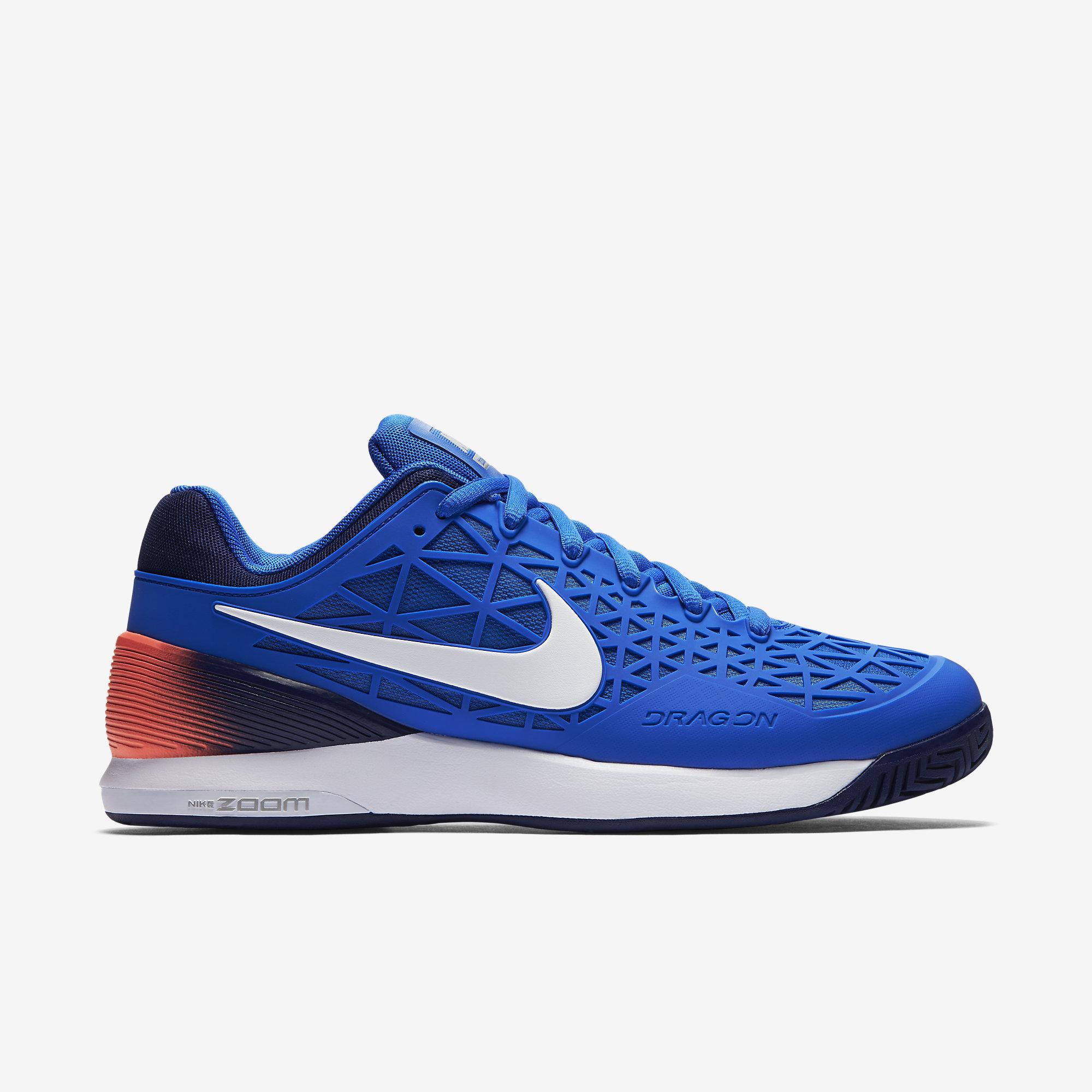 97493ac52770 Nike Mens Zoom Cage 2 EU Tennis Shoes - Blue - Tennisnuts.com