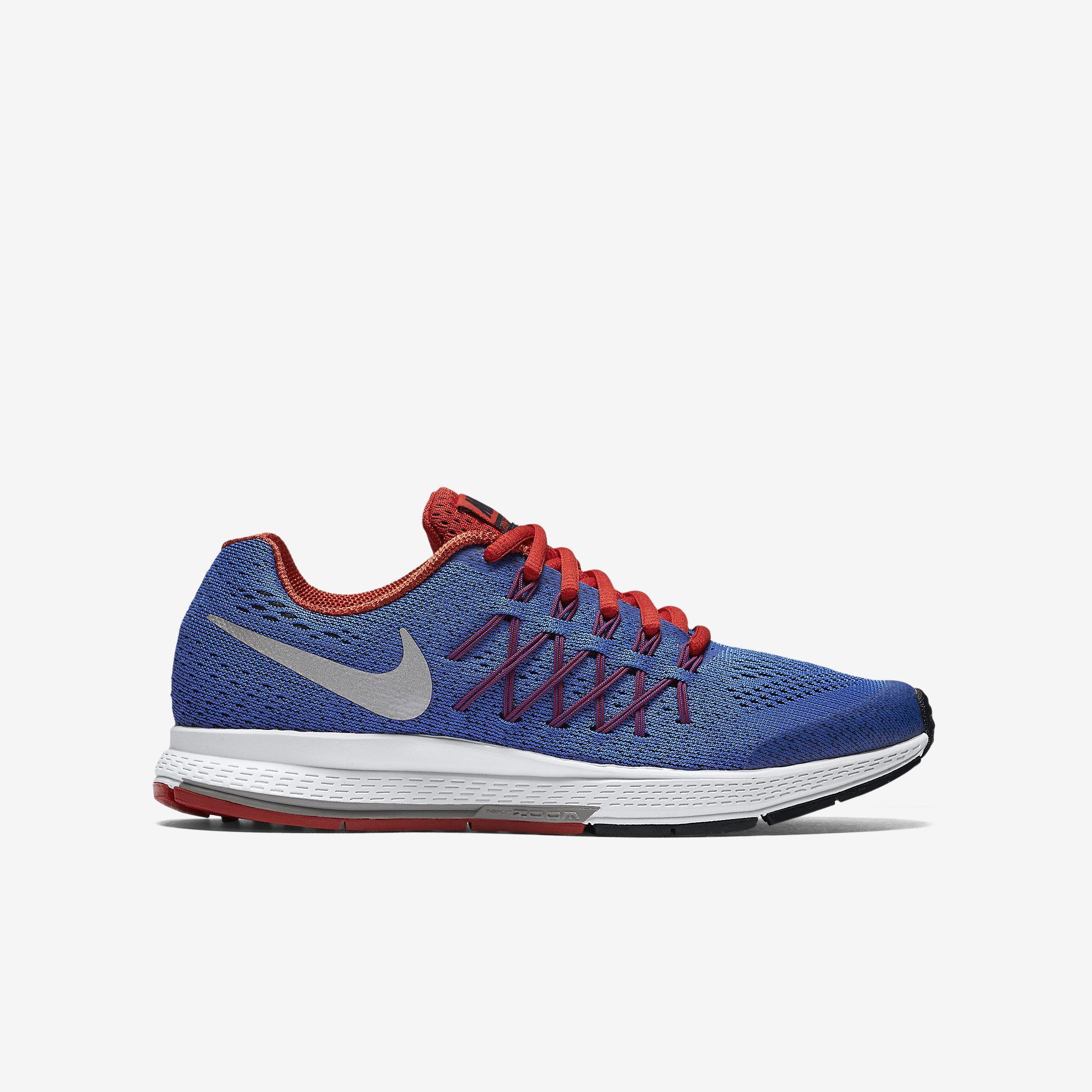 sports shoes 4b103 6fdd8 Nike Boys Air Zoom Pegasus 32 Running Shoes - Blue Red - Tennisnuts.com