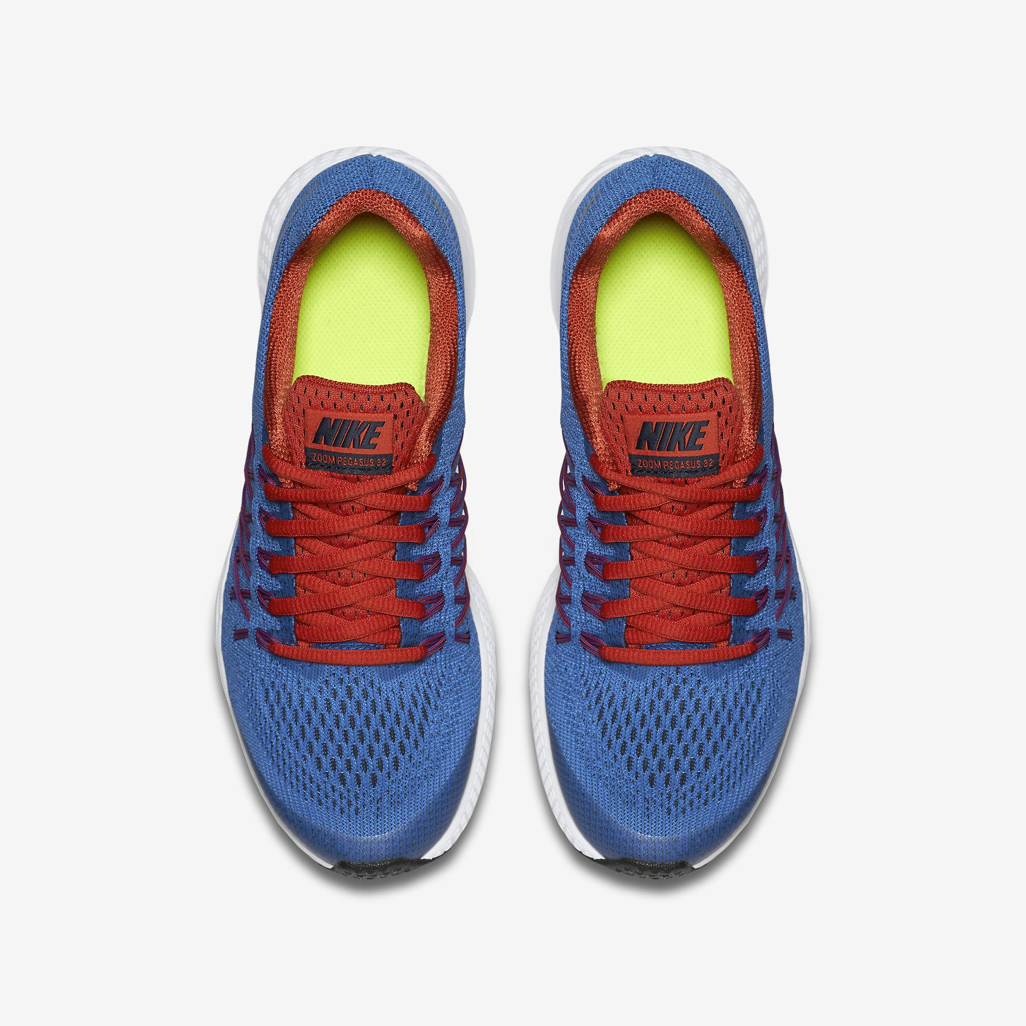 hot sale online b3b70 049fa Nike Boys Air Zoom Pegasus 32 Running Shoes - Blue Red