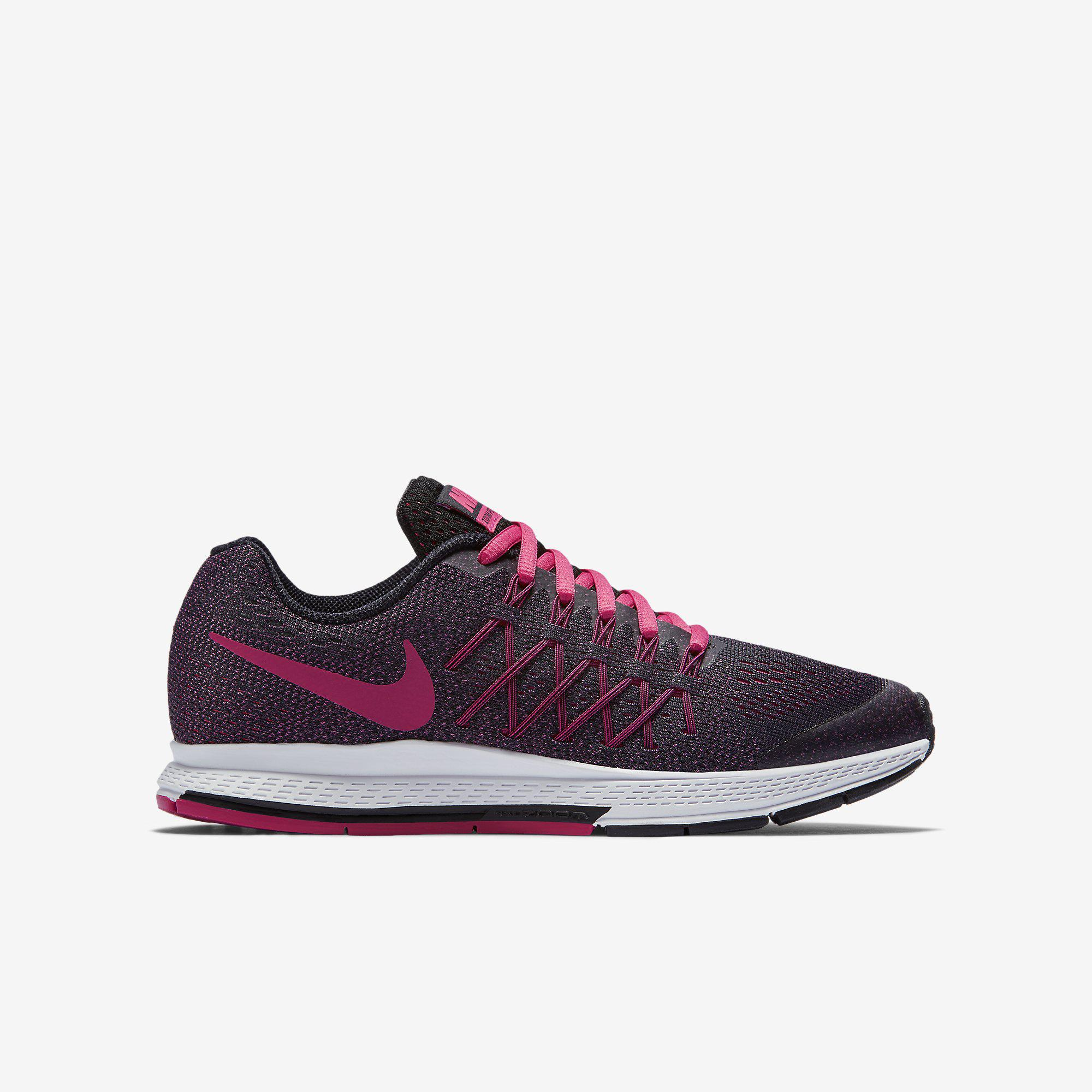 nike girls air zoom pegasus 32 running shoes vivid pink black white. Black Bedroom Furniture Sets. Home Design Ideas