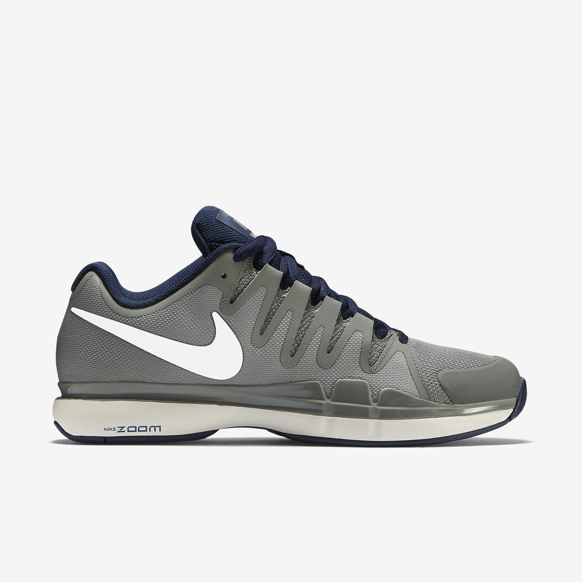 e601e9c9ee840 Nike Mens Zoom Vapor 9.5 Tour Tennis Shoes - Grey White - Tennisnuts.com