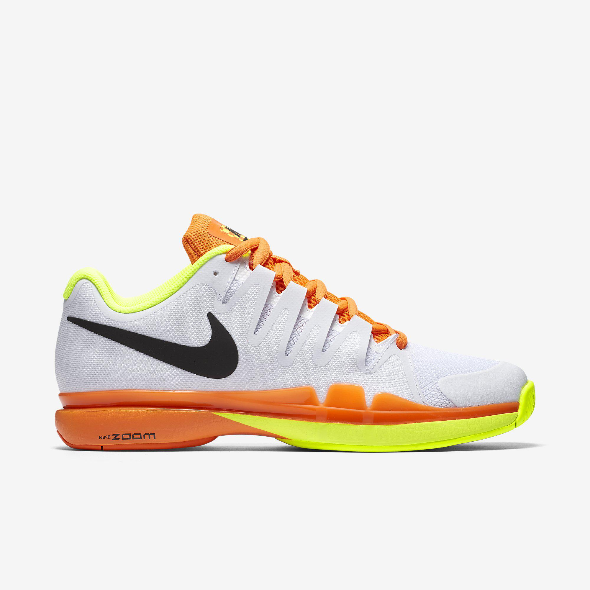 buy online e85da ec1b8 Nike Mens Zoom Vapor 9.5 Tour Tennis Shoes - White Orange Volt -  Tennisnuts.com