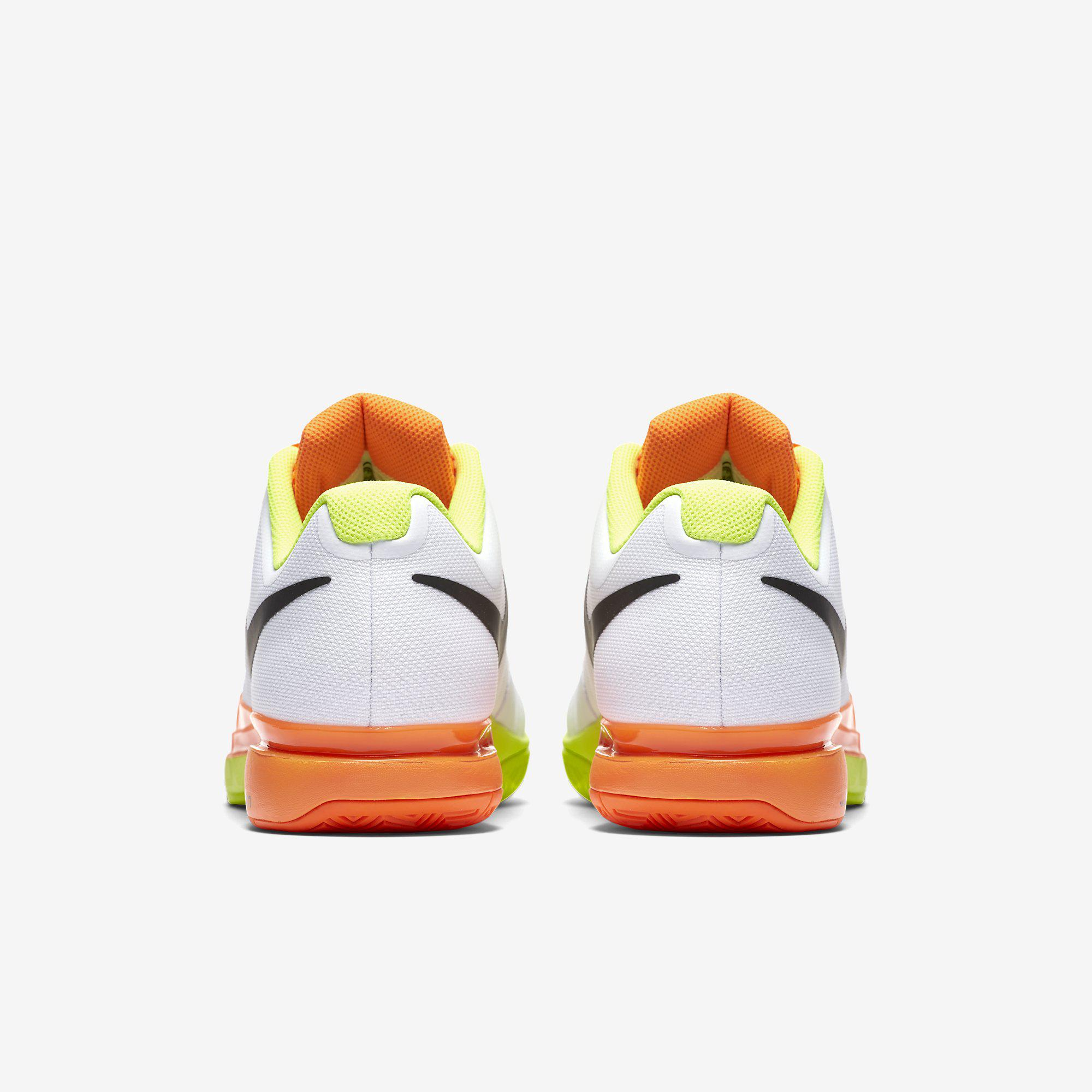 c7645a123e3ec Nike Mens Zoom Vapor 9.5 Tour Tennis Shoes - White Orange Volt ...