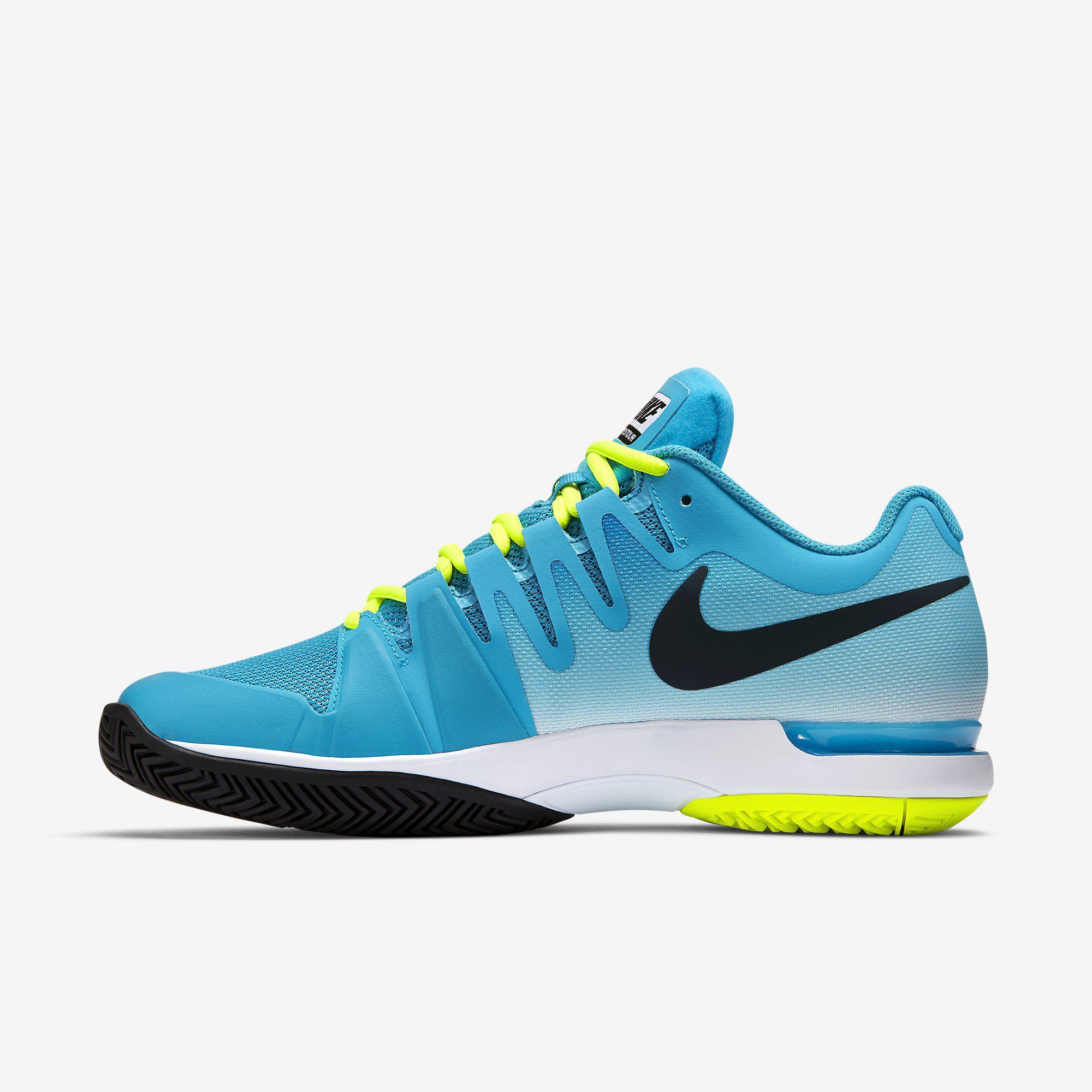 Granjero Completo Acumulativo  Nike Mens Zoom Vapor 9.5 Tour Tennis Shoes - Blue/Yellow - Tennisnuts.com