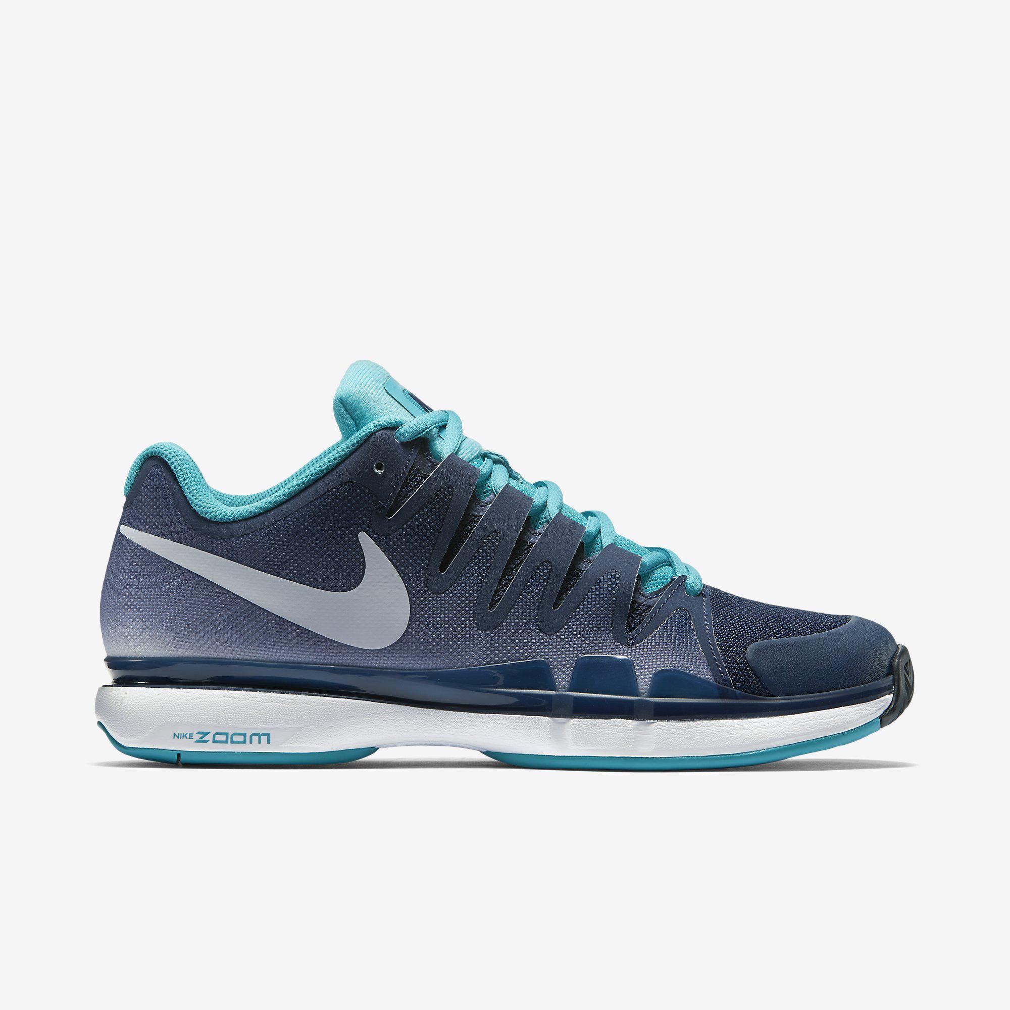 Nike Zoom Hommes Vapeur 9.5 Tour Chaussures De Tennis - Marine De Minuit