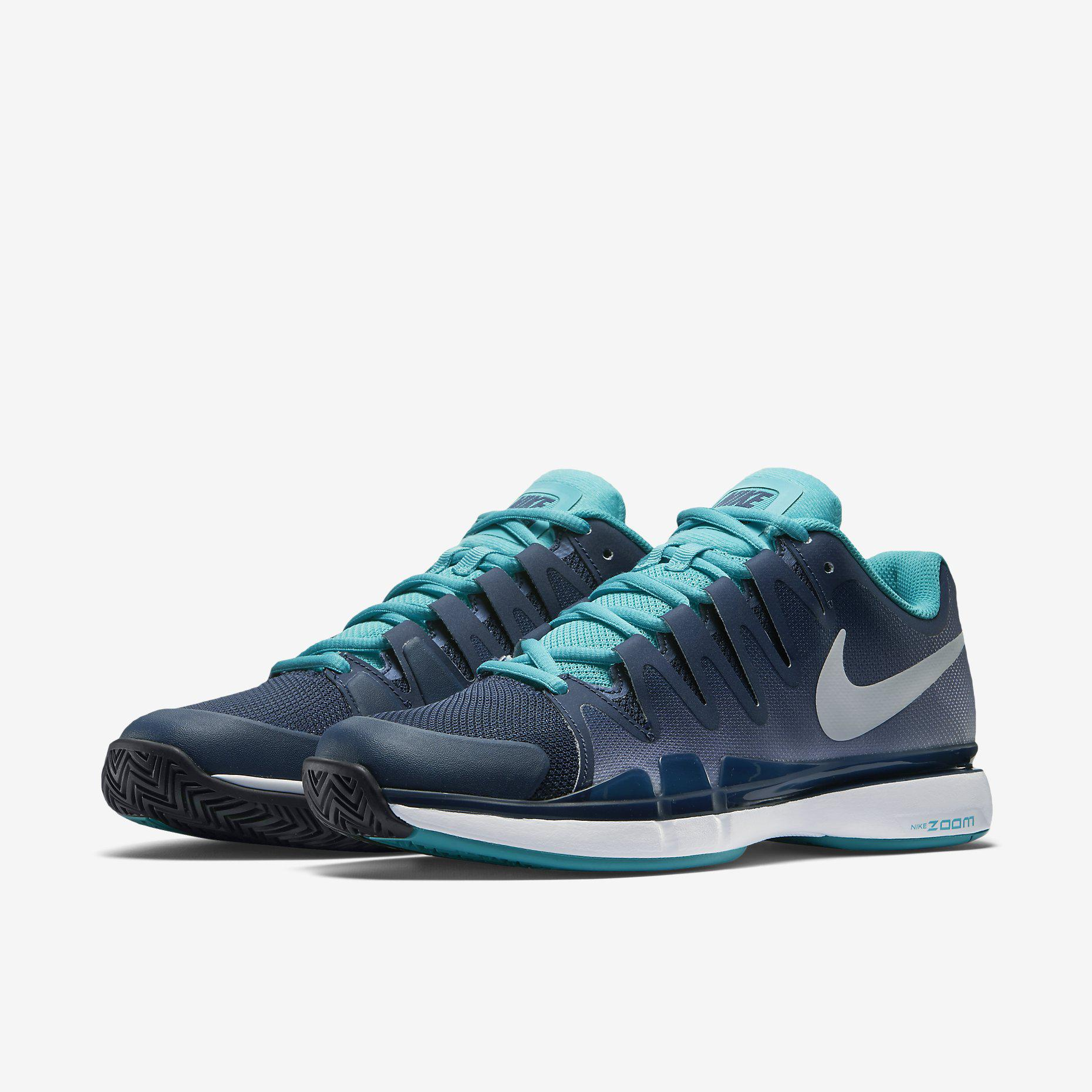 2749905e67ea Nike Mens Zoom Vapor 9.5 Tour Tennis Shoes - Midnight Navy ...