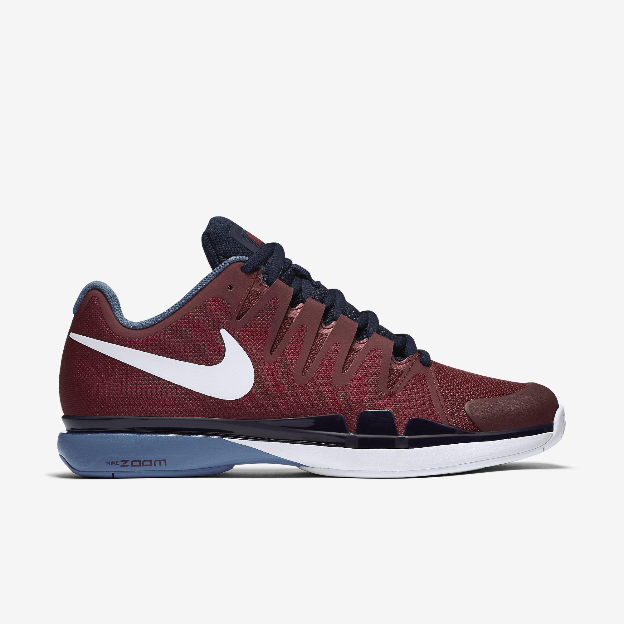 d9795fbbaea47 Nike Mens Zoom Vapor 9.5 Tour Tennis Shoes - Red - Tennisnuts.com