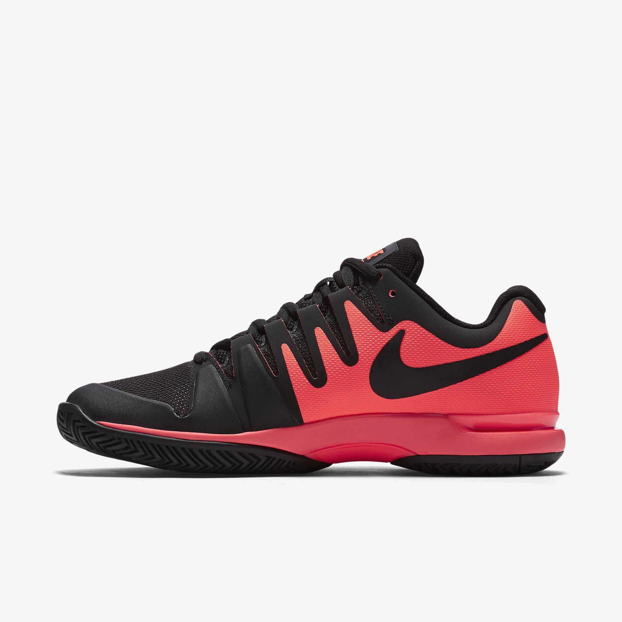 fb9c8a680b30 Nike Mens Zoom Vapor 9.5 Tour Tennis Shoes - Hot Lava Black ...
