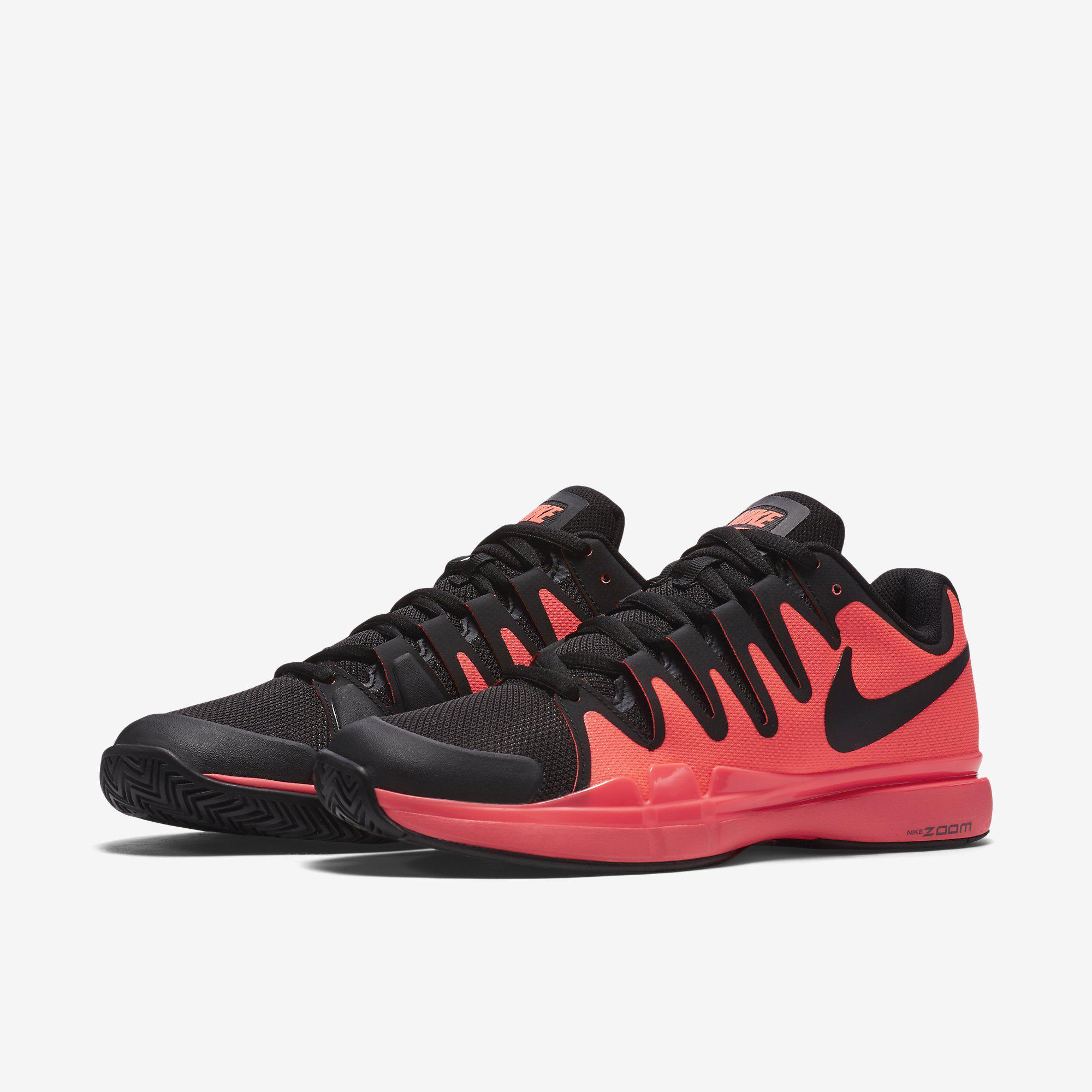Out Of Stock. Nike Mens Zoom Vapor 9.5 Tour Tennis Shoes - Hot Lava/Black  ...