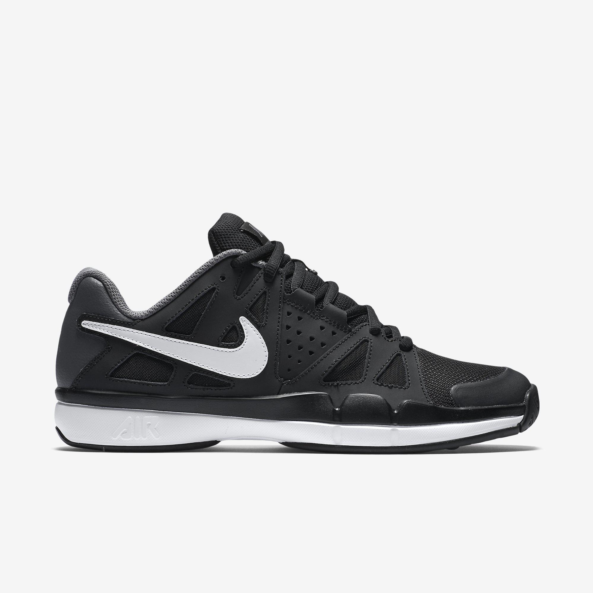 9d98ee8807a9 Nike Mens Air Vapor Advantage Tennis Shoes - Black White - Tennisnuts.com