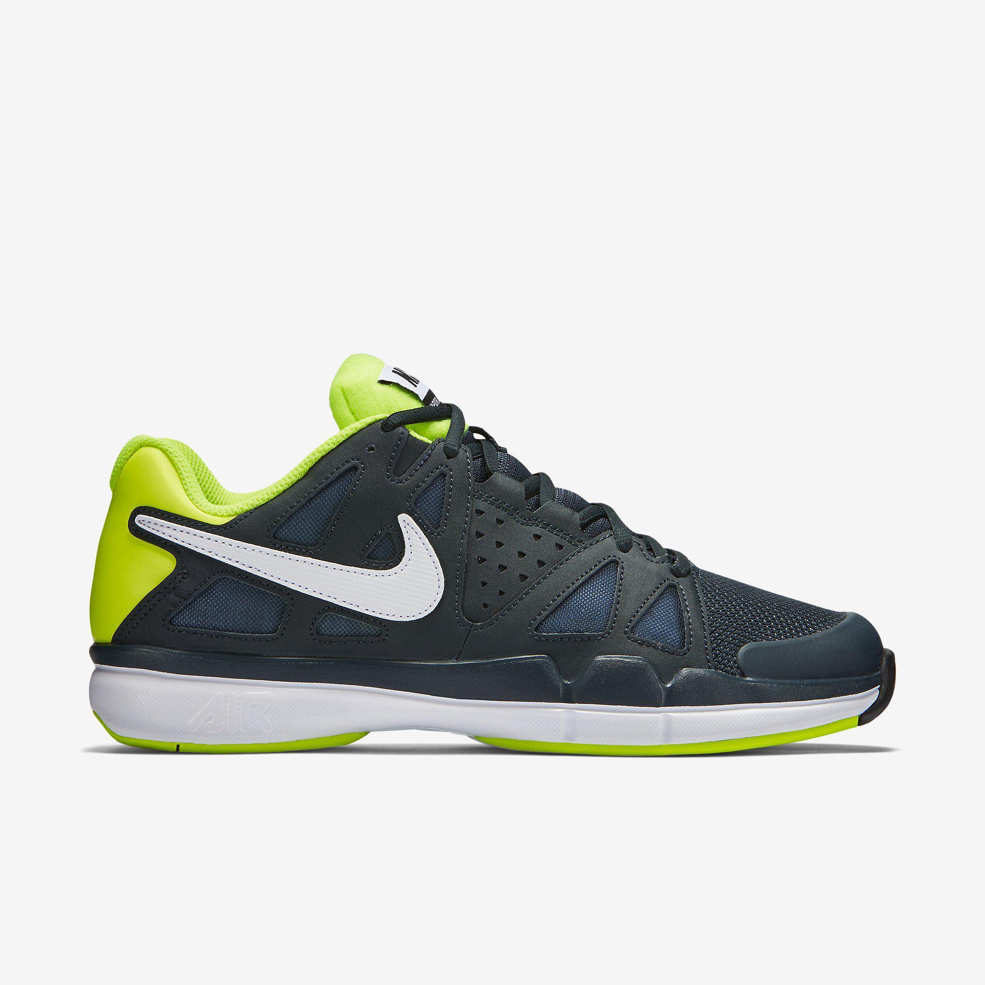 264b2a5fbb80 Nike Mens Air Vapor Advantage Tennis Shoes - Classic Charcoal Volt -  Tennisnuts.com