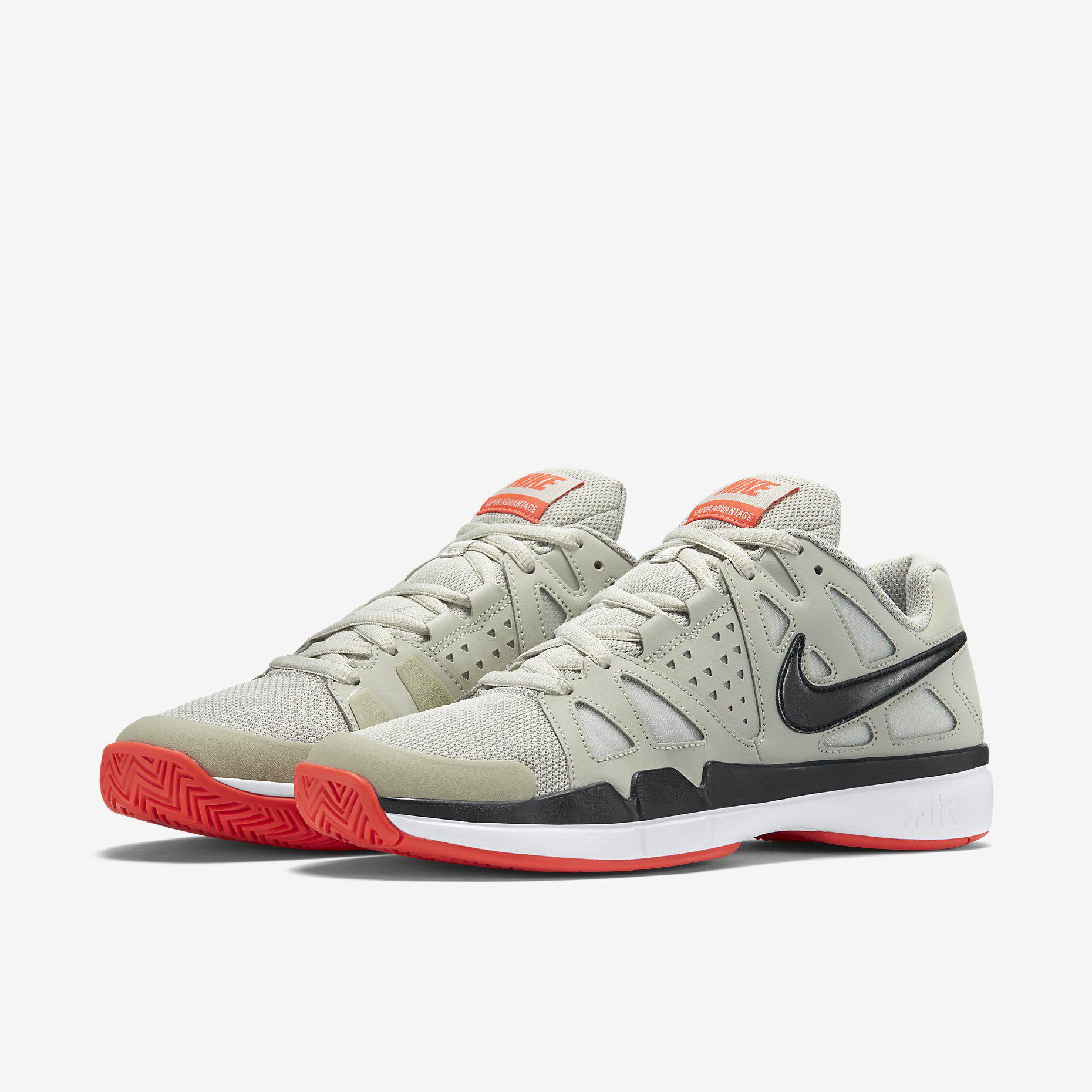 super popular fcd8d 027f9 ... spain nike mens air vapor advantage tennis shoes lunar grey bright  crimson 99563 a9cda