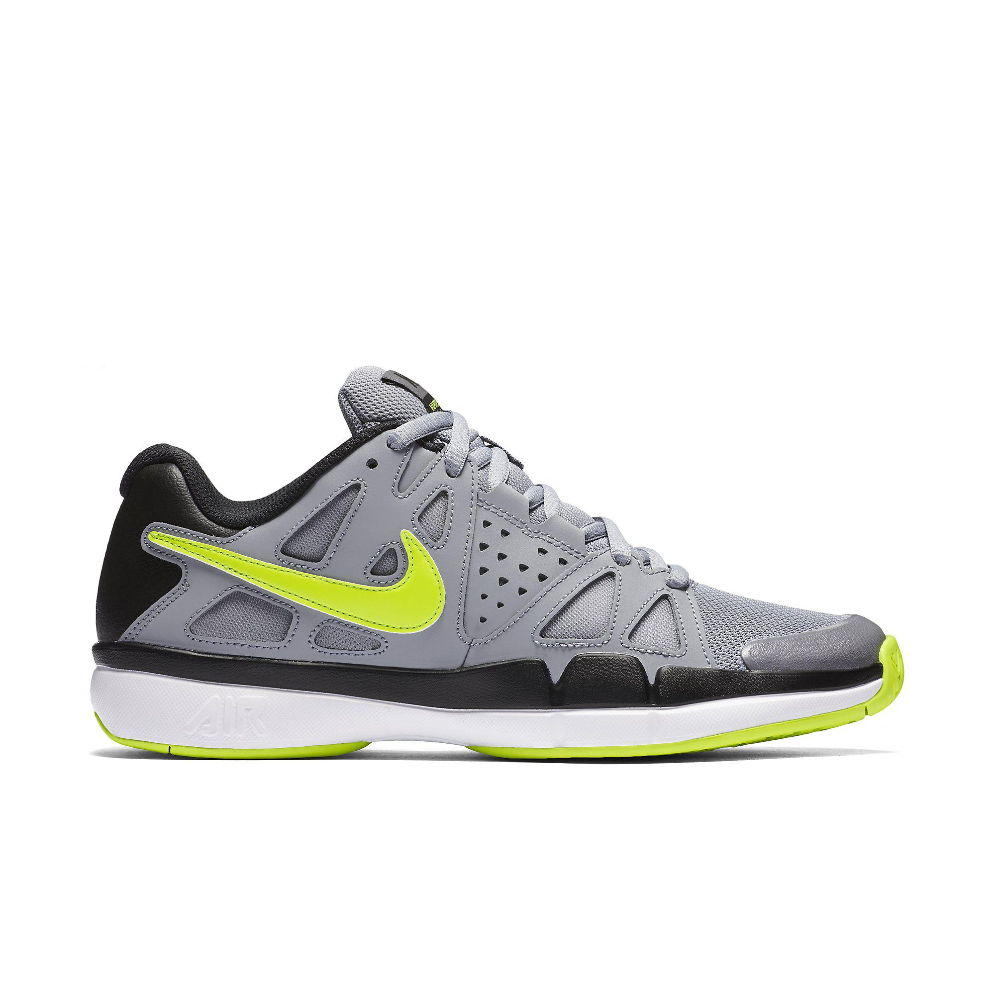 16fe6be4d027 Nike Mens Air Vapor Advantage Tennis Shoes - Stealth Grey Volt -  Tennisnuts.com
