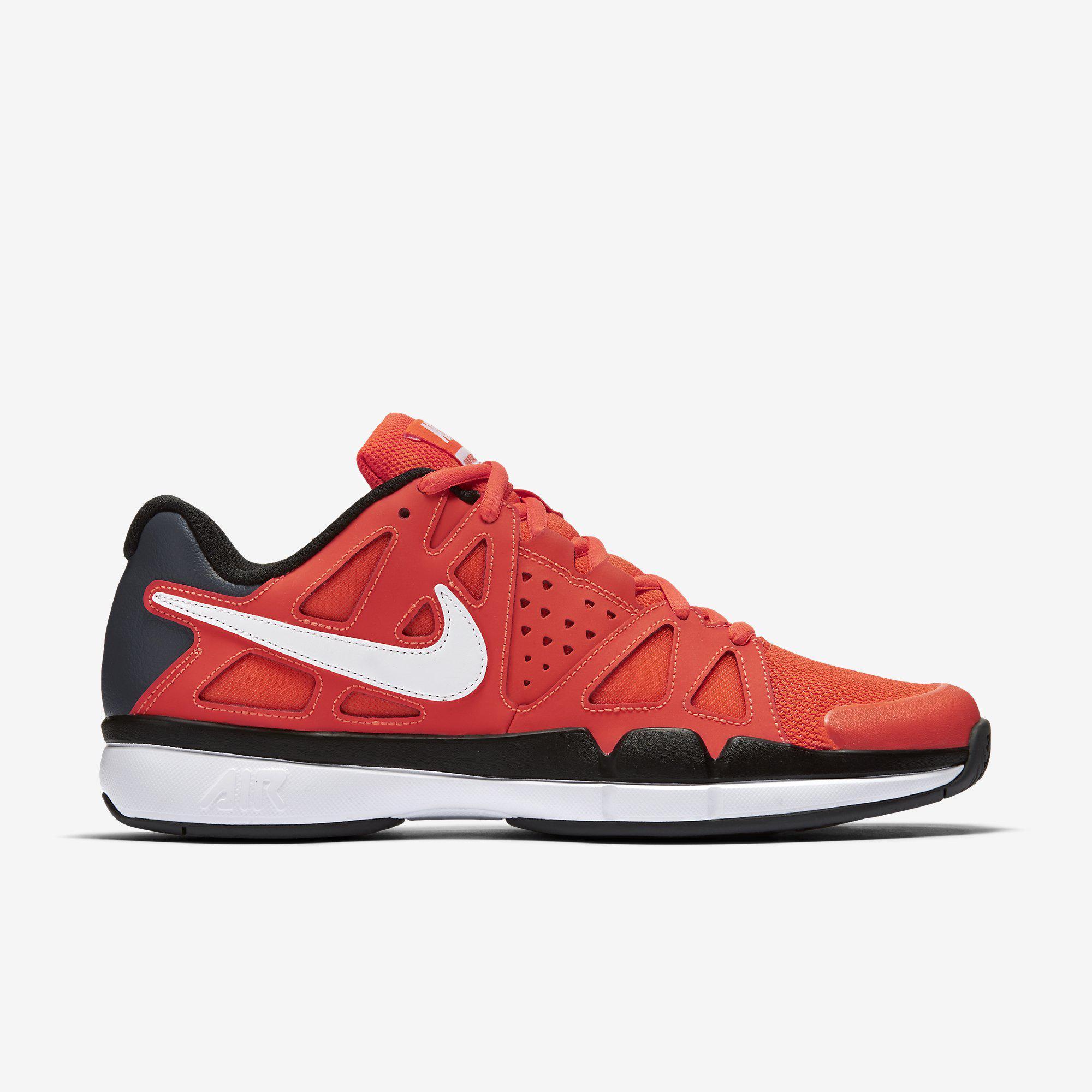 247ae6424225 Nike Mens Air Vapor Advantage Tennis Shoes - Orange Black - Tennisnuts.com