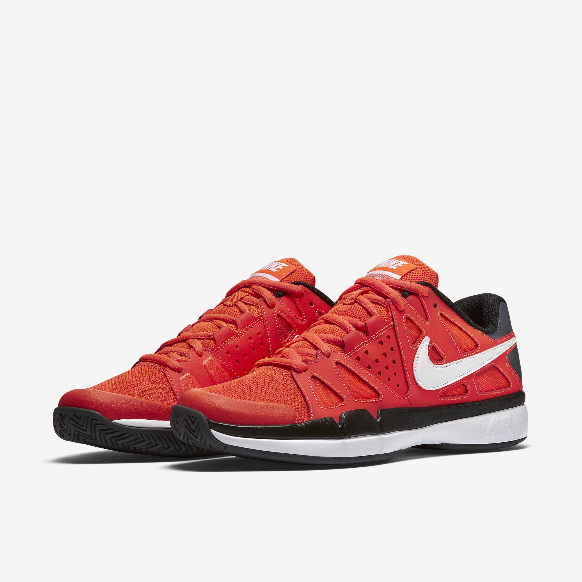 Nike Mens Air Vapor Advantage Tennis Shoes - Orange Black ... 23ad47f72