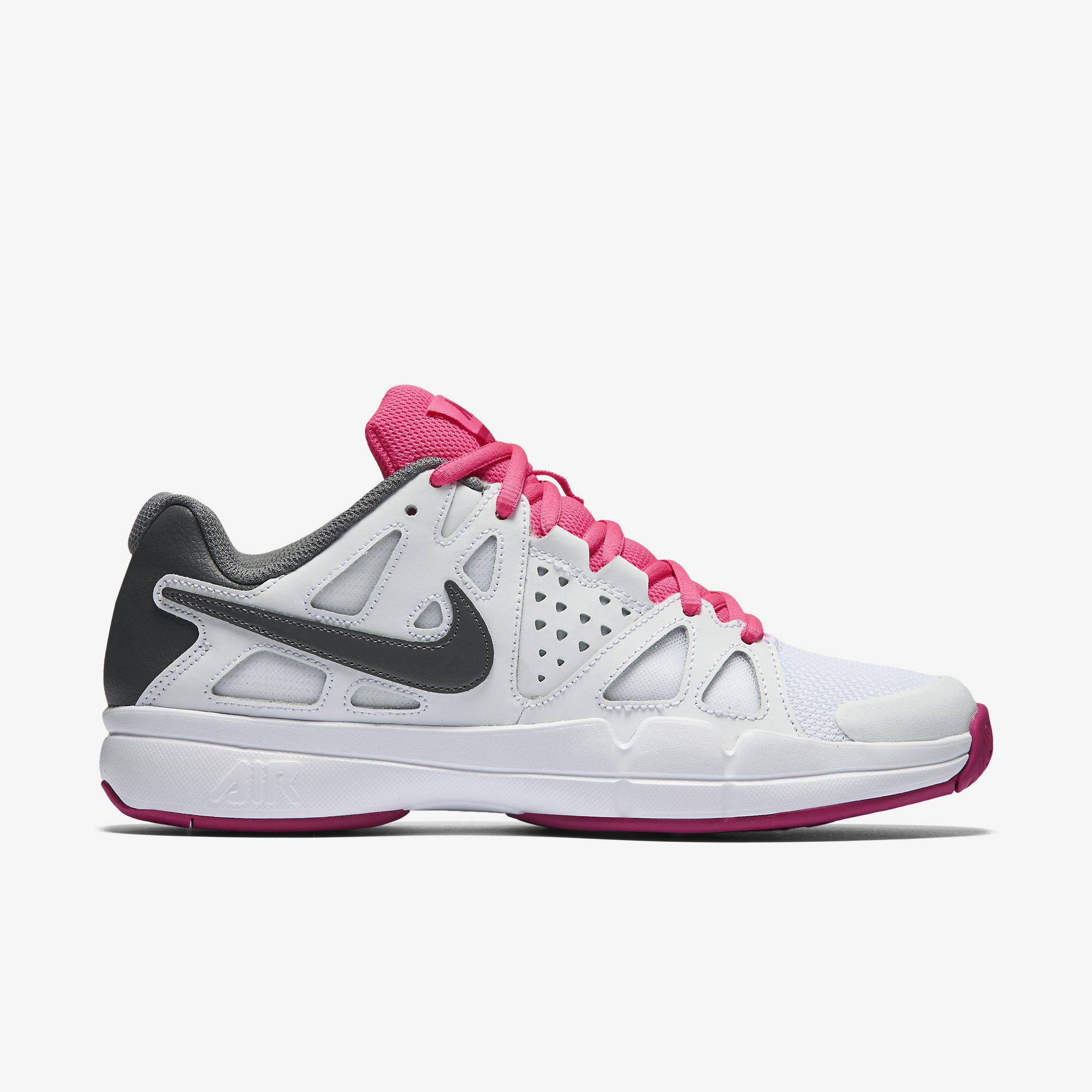 2078fa6621f6 Nike Womens Air Vapor Advantage Tennis Shoes - White Pink - Tennisnuts.com