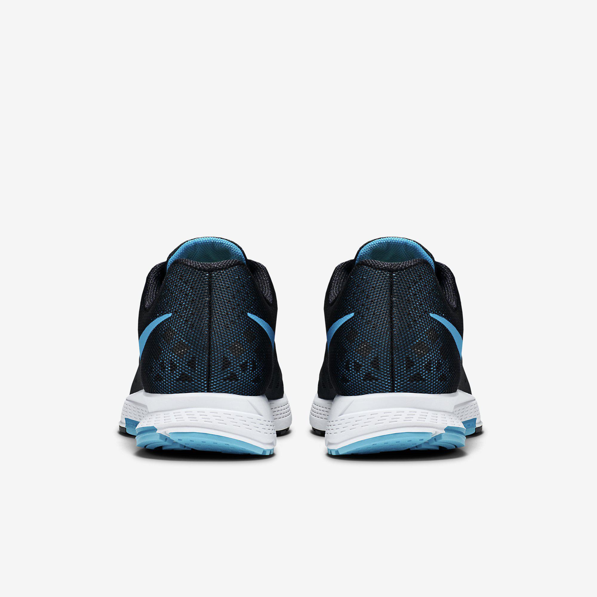 the latest 55834 83830 Nike Mens Air Zoom Pegasus+31 Running Shoes - Black White Blue