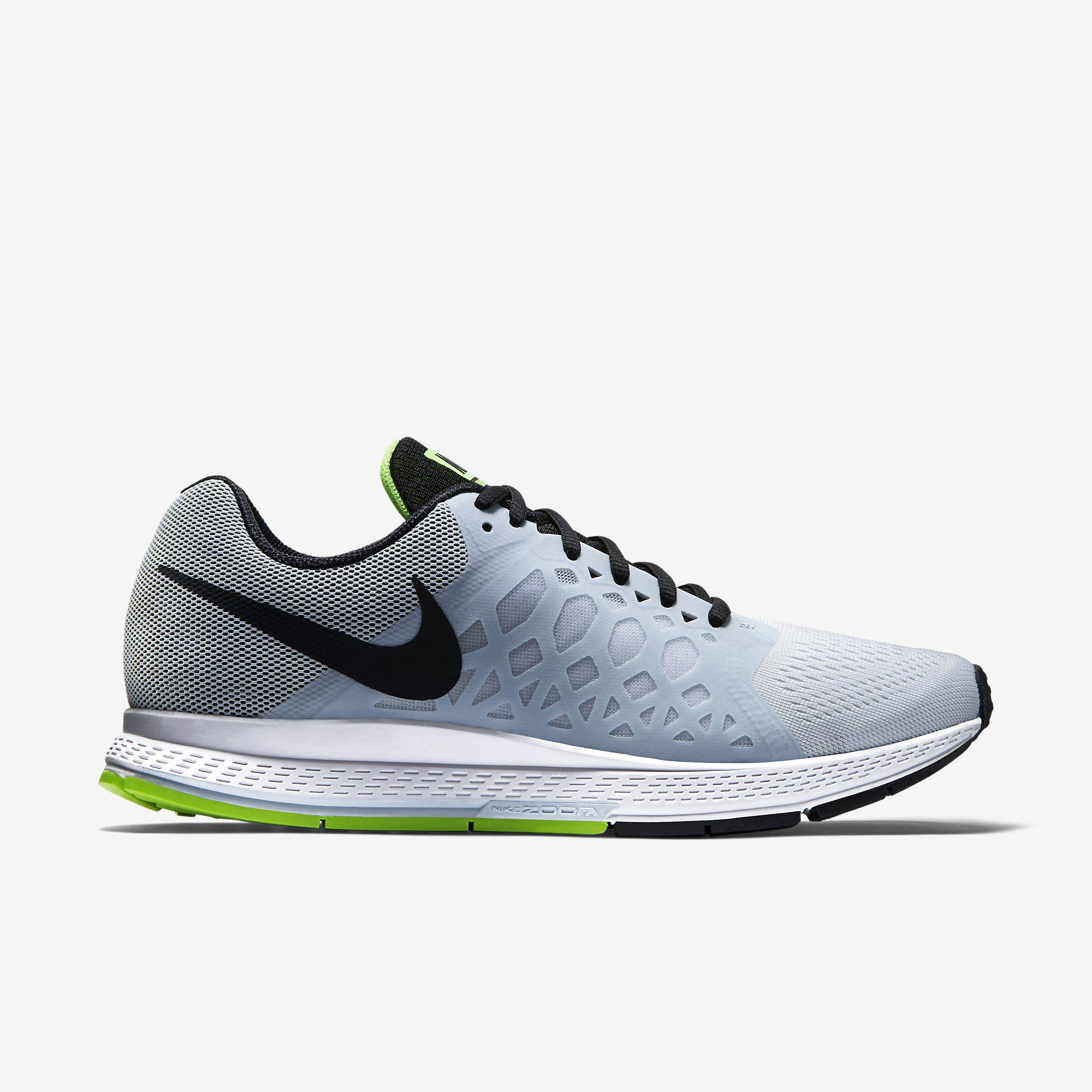 Nike Mens Air Zoom Pegasus+31 Running Shoes - Pure Platinum/White