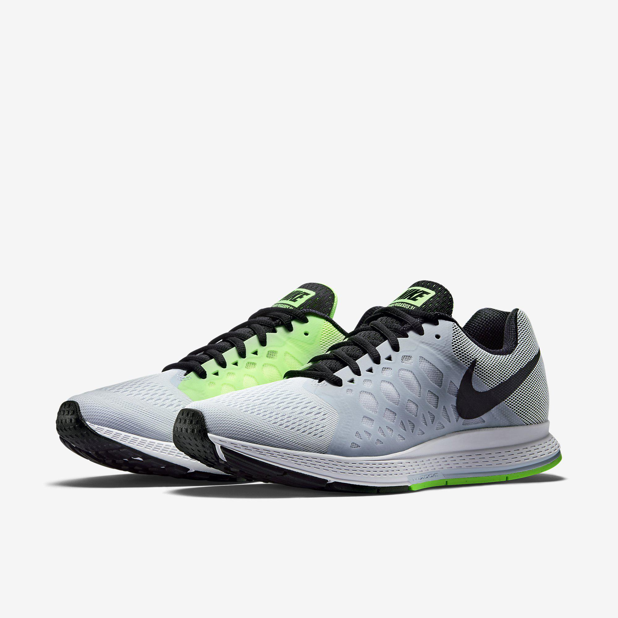 mens nike zoom pegasus 31 white blue. Black Bedroom Furniture Sets. Home Design Ideas