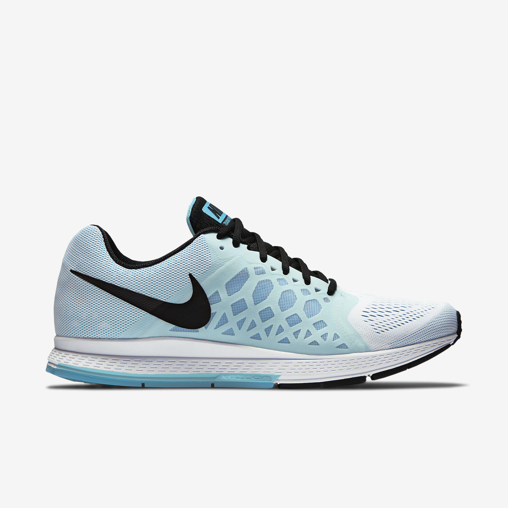 sneakers for cheap 33661 bbd83 Nike Mens Air Zoom Pegasus+31 Running Shoes - White Blue - Tennisnuts.com