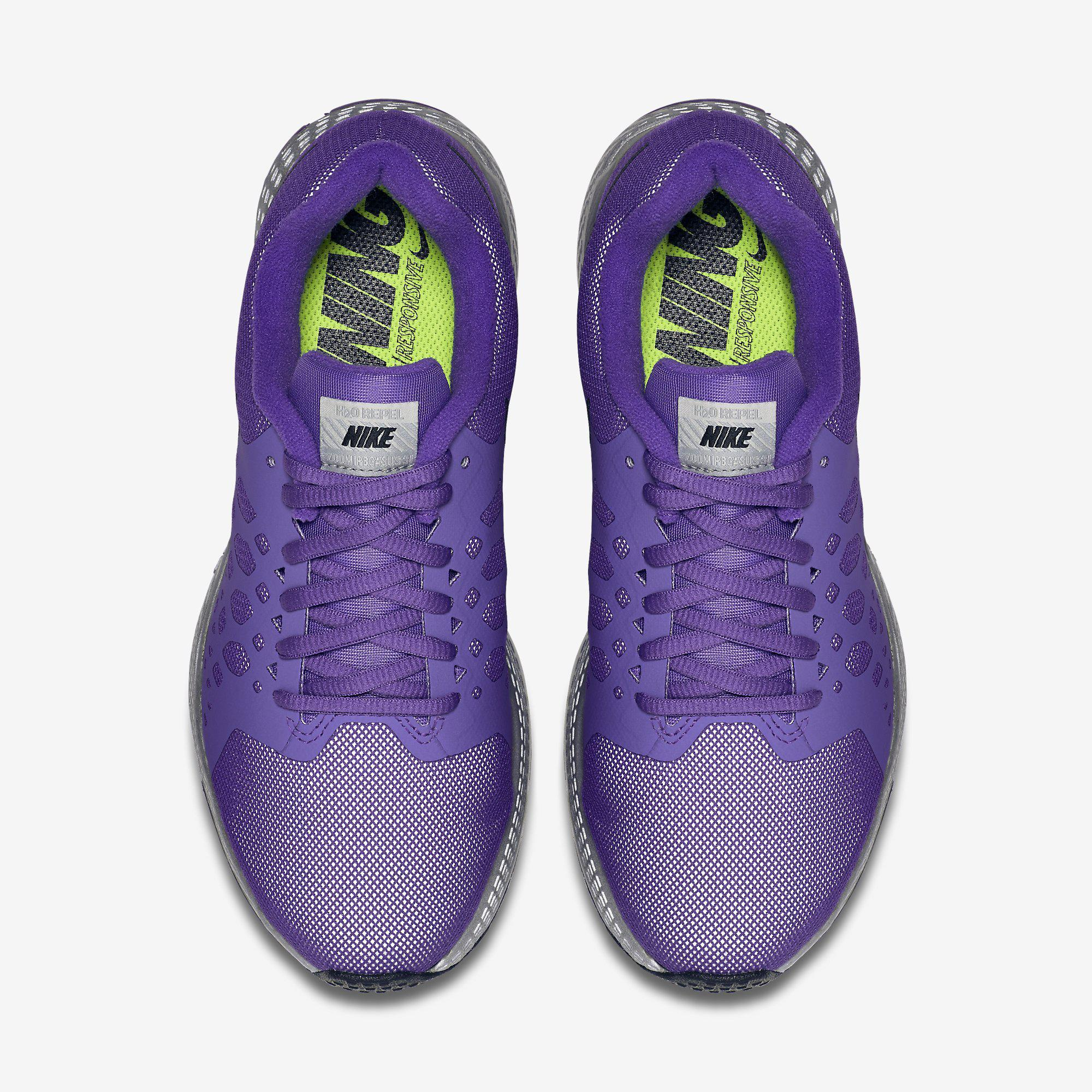 3836483aaaf Nike Womens Air Zoom Pegasus+ 31 Flash Running Shoes - Hyper Grape ...