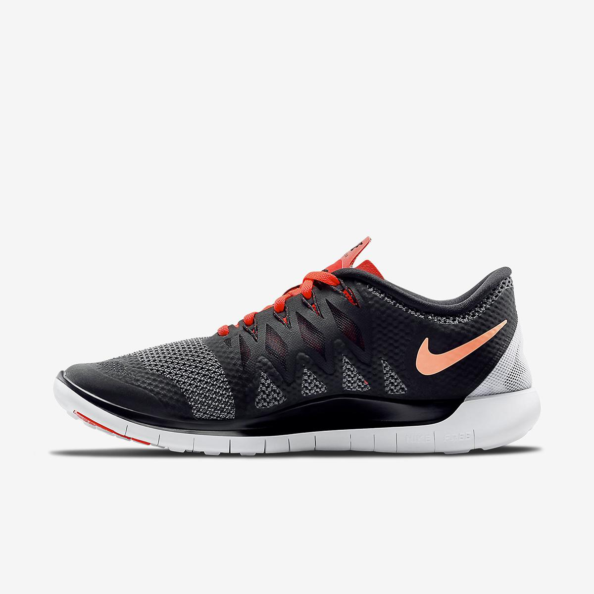 nike mens free 5 0 running shoes black bright crimson