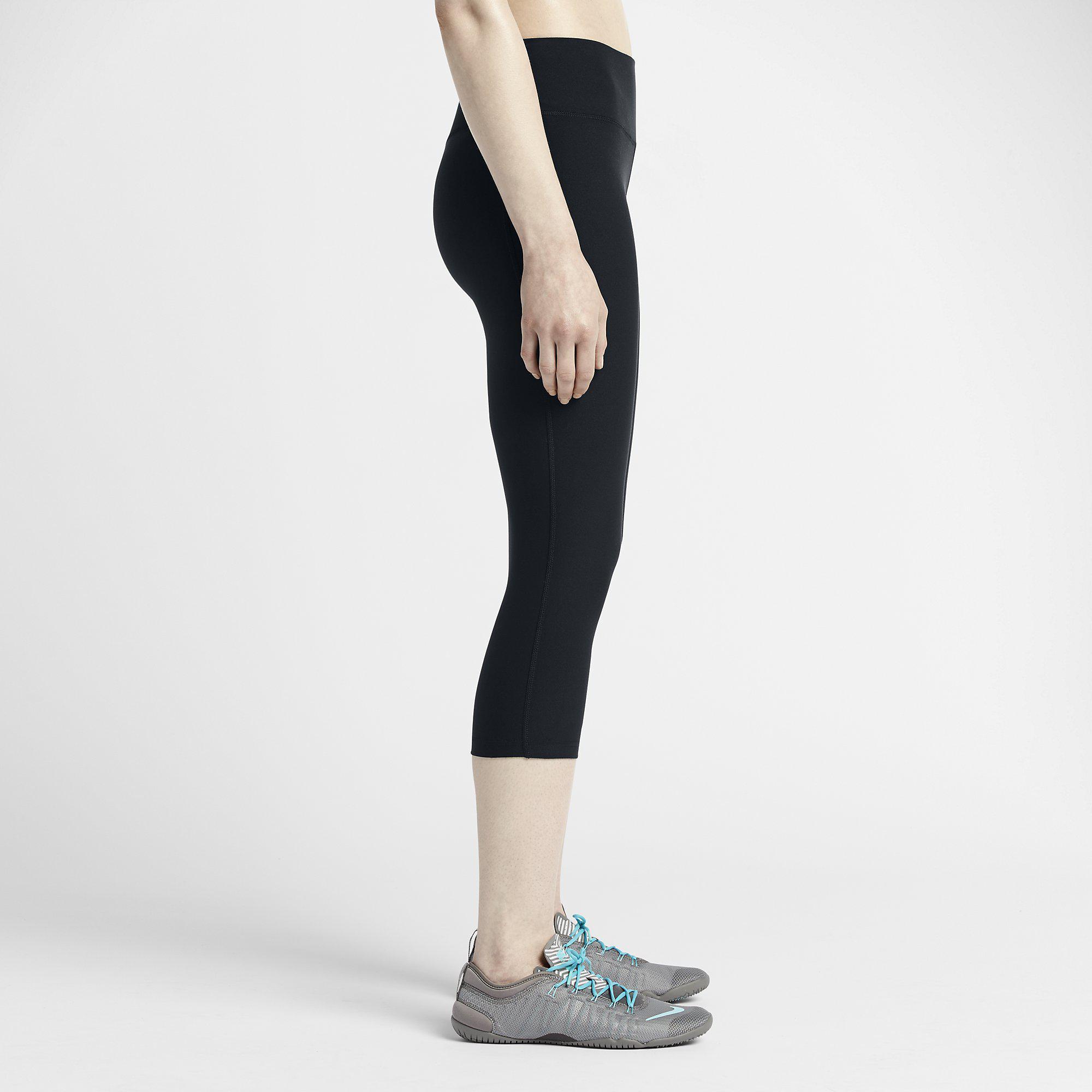 739dfd0aabcbe Nike Womens Legend 2.0 Tight Poly Capri - Black - Tennisnuts.com
