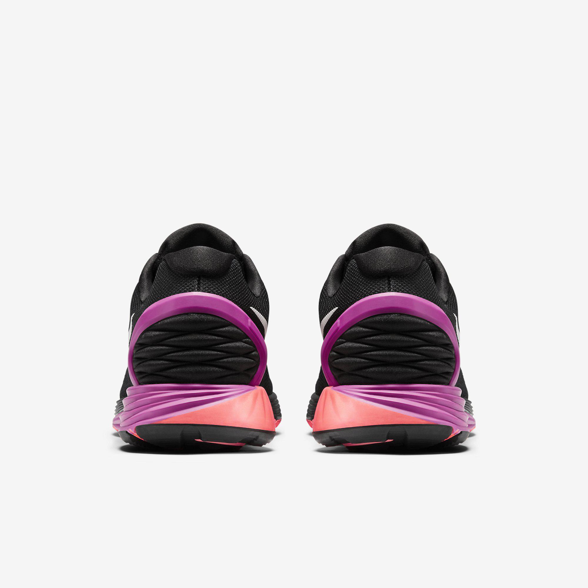 28fb923f00a6 ... wholesale nike womens lunarglide 6 running shoes black fuchsia flash  c2152 254ea