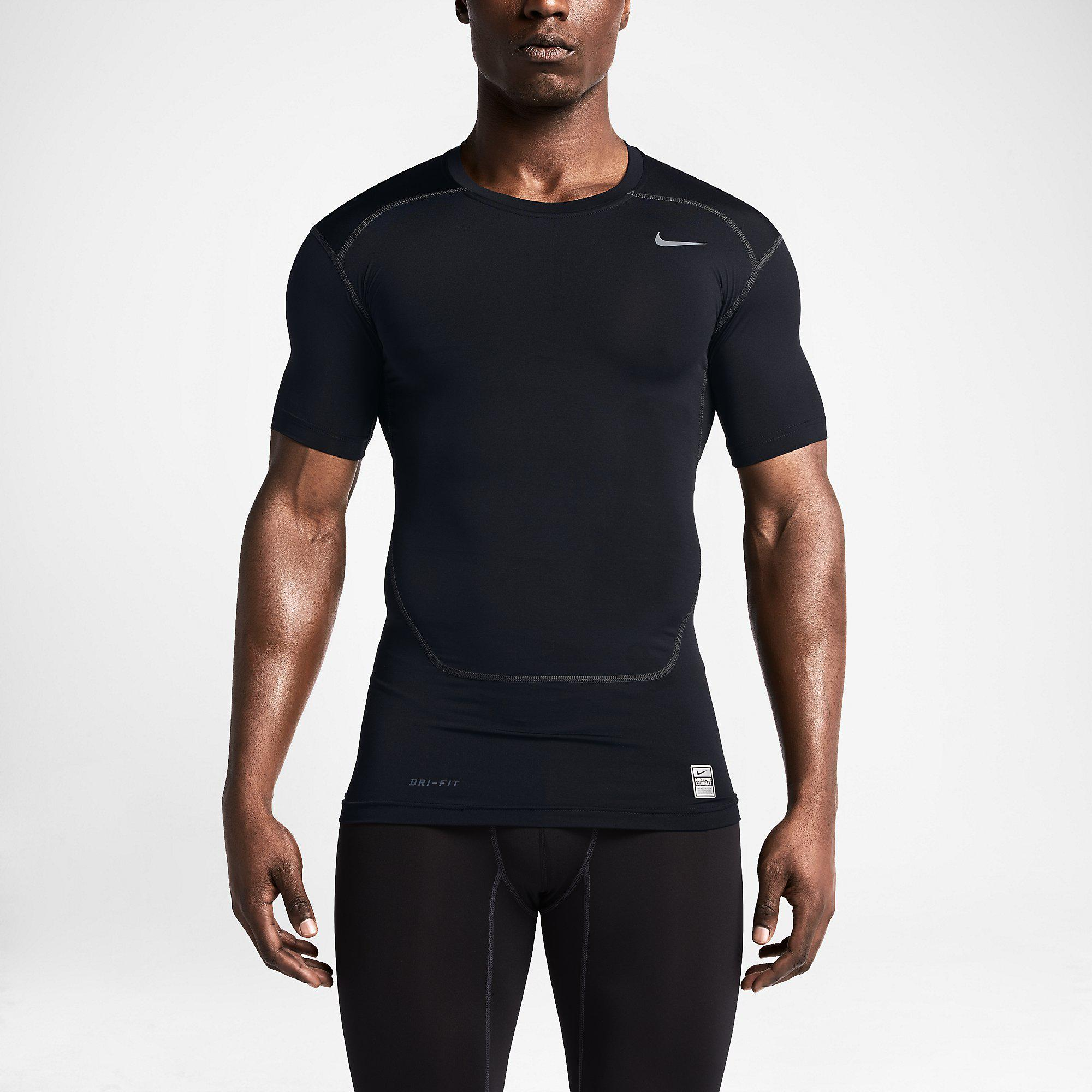 nike pro 2 0 combat core short sleeve shirt black cool grey. Black Bedroom Furniture Sets. Home Design Ideas