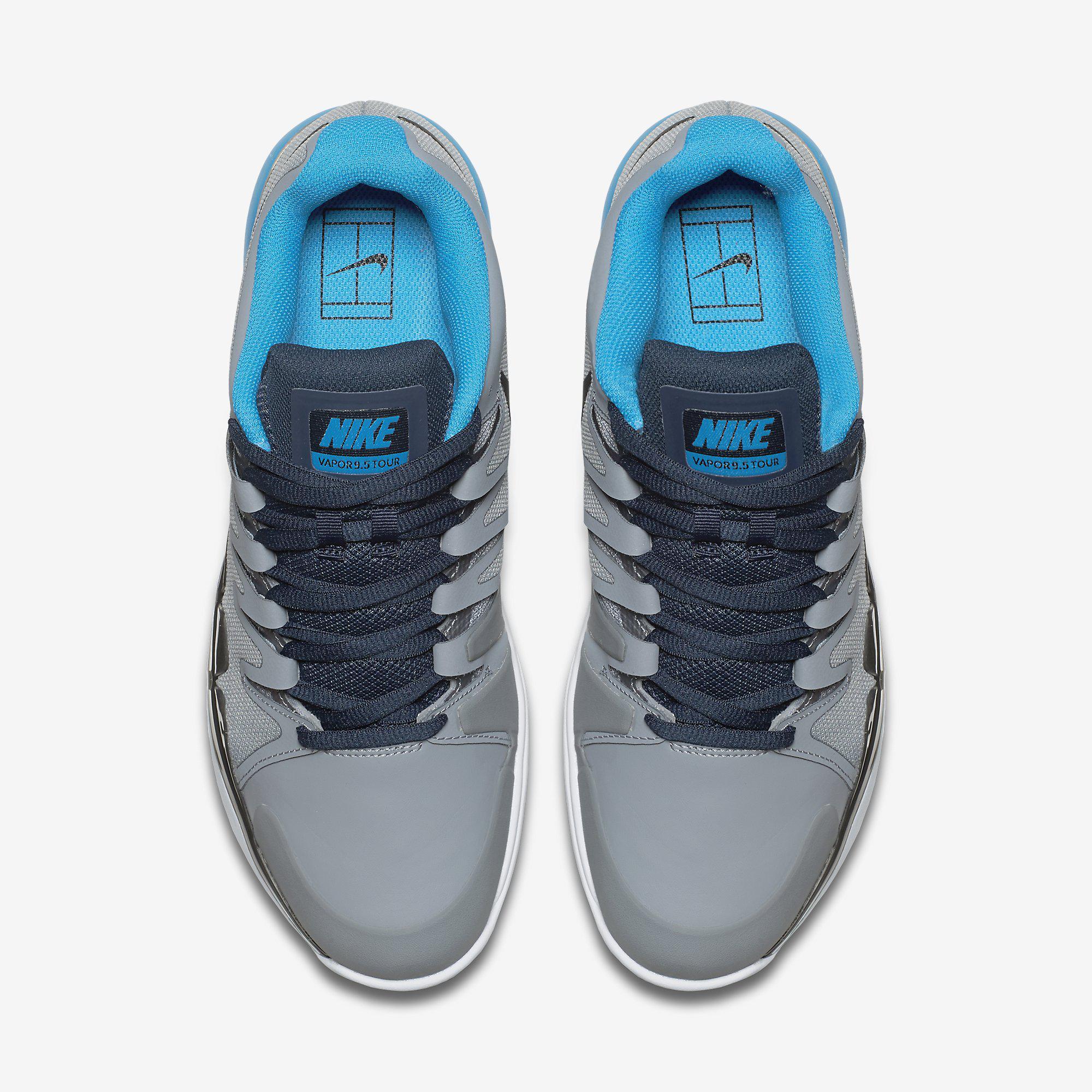 efcc8075d729c2 ... hot nike mens zoom vapor 9.5 tour clay court tennis shoes grey blue  9a20a 6ff10