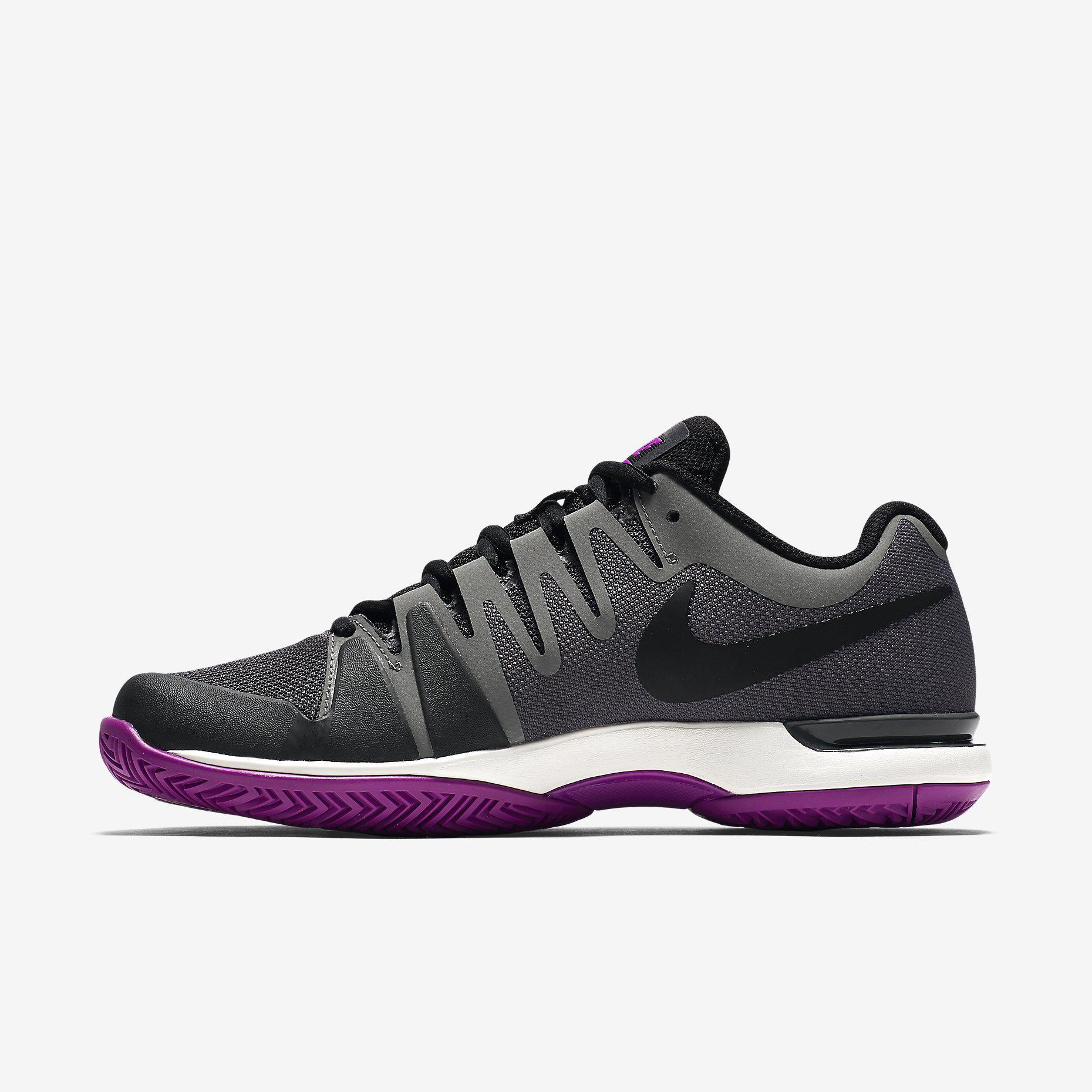 Awesome Nike Air Max Cage Grey Purple Womens Tennis Shoes - Style Guru Fashion Glitz Glamour Style ...