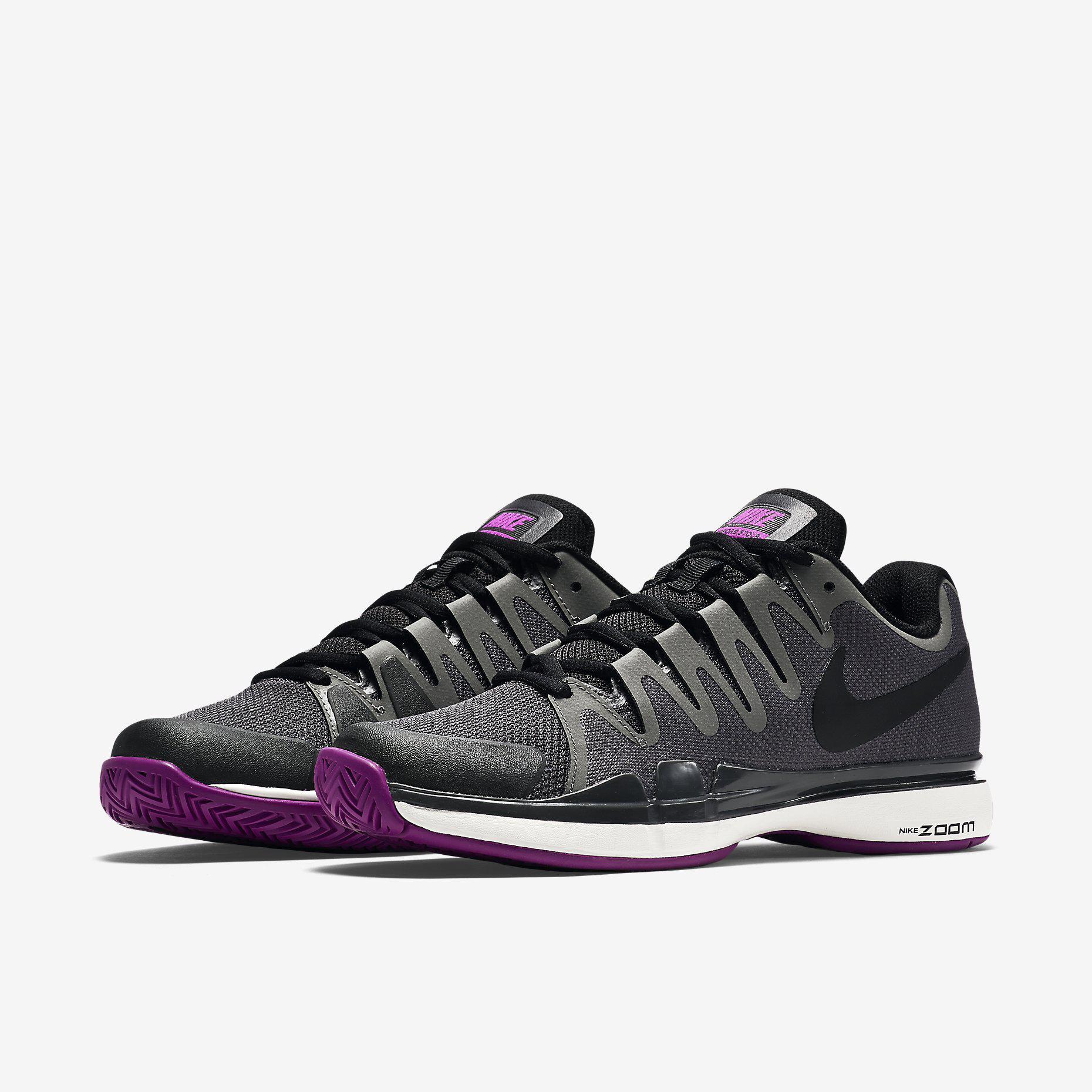 réduction excellente Nike Zoom Femmes Vapeur 9.5 Chaussures De Tennis - Minuit Couleur Du Brouillard coût en ligne meilleur gros limité achat en ligne dZMeraSW5