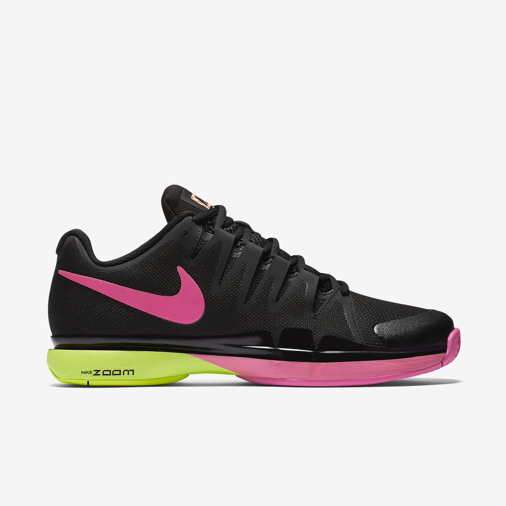 nike womens zoom vapor 9 5 tennis shoes  volt  pink