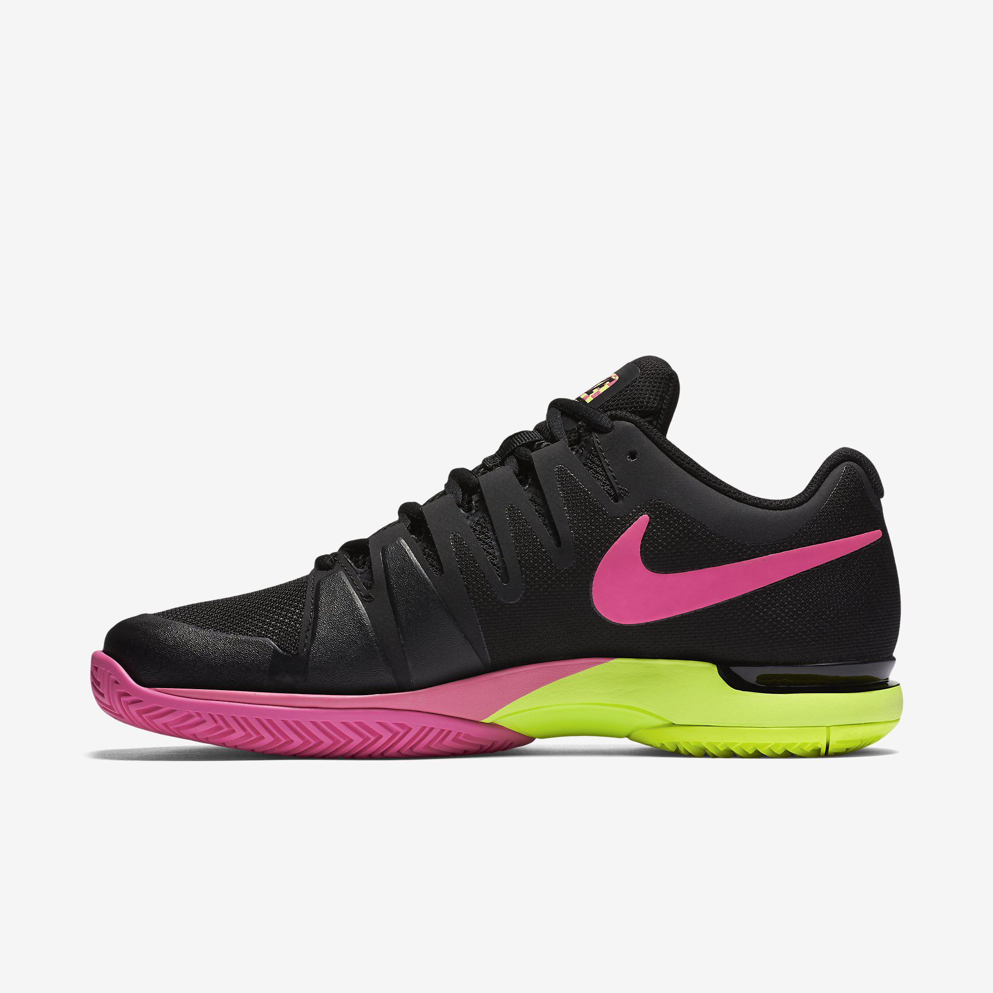 Nike Womens Zoom Vapor 9.5 Tennis Shoes - Black/Volt/Pink ...