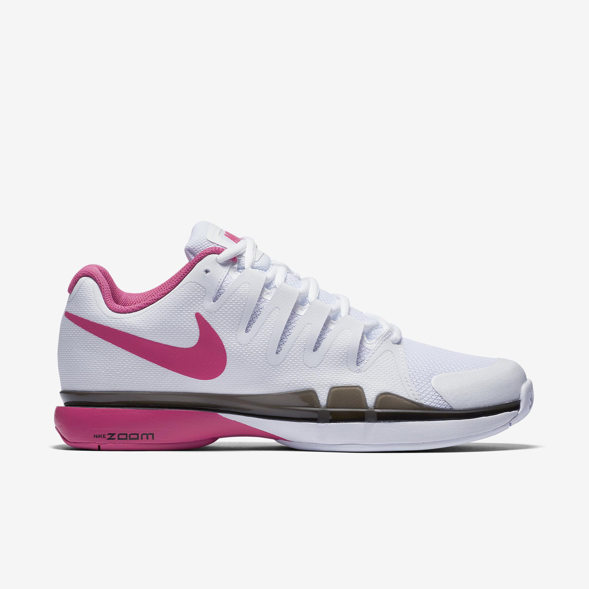 Nike Womens Zoom Vapor 9.5 Tennis Shoes - White/Pink