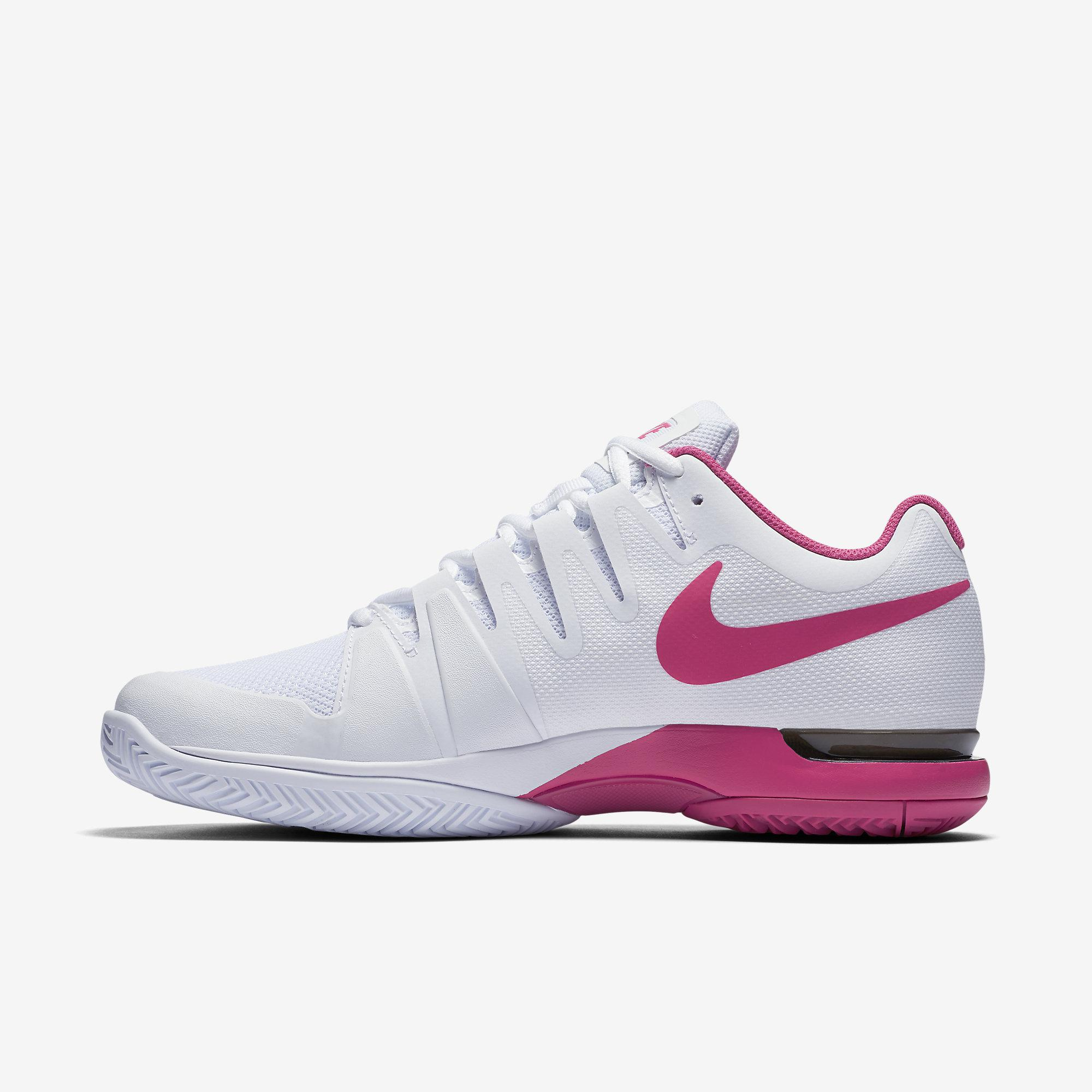 Womens Pink And Black Tennis Shoes